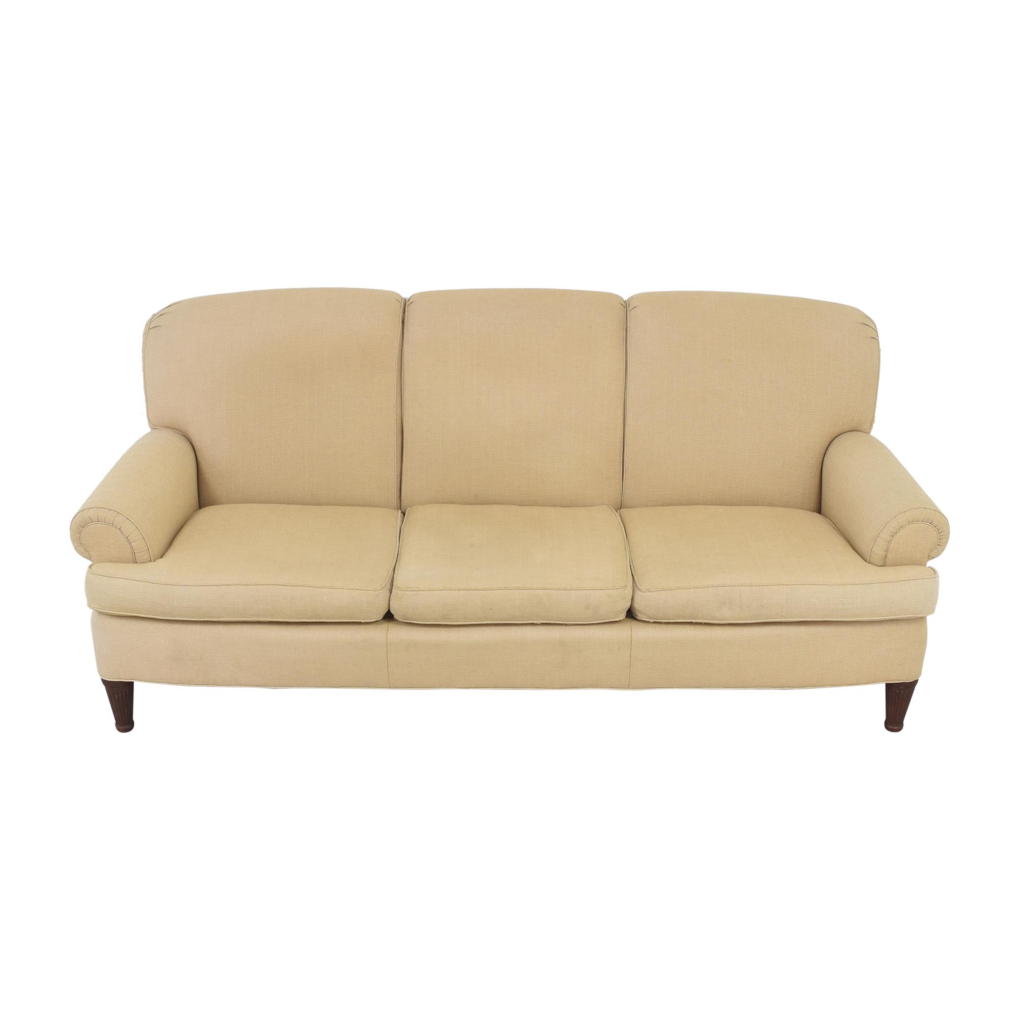 Ralph Lauren Home Ralph Lauren Upholstered Roll Arm Sofa dimensions