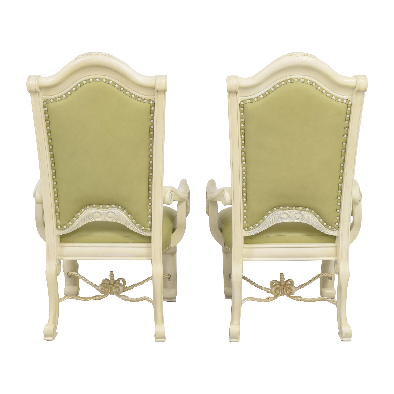 shop AICO Monte Carlo Snow Dining Arm Chairs AICO Chairs