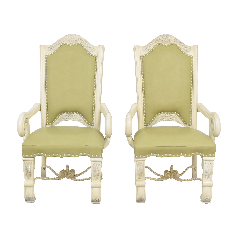 AICO Monte Carlo Snow Dining Arm Chairs sale
