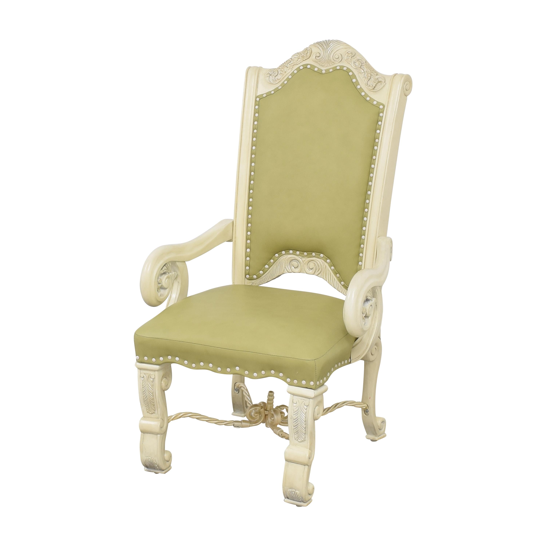 shop AICO Monte Carlo Snow Dining Arm Chairs AICO