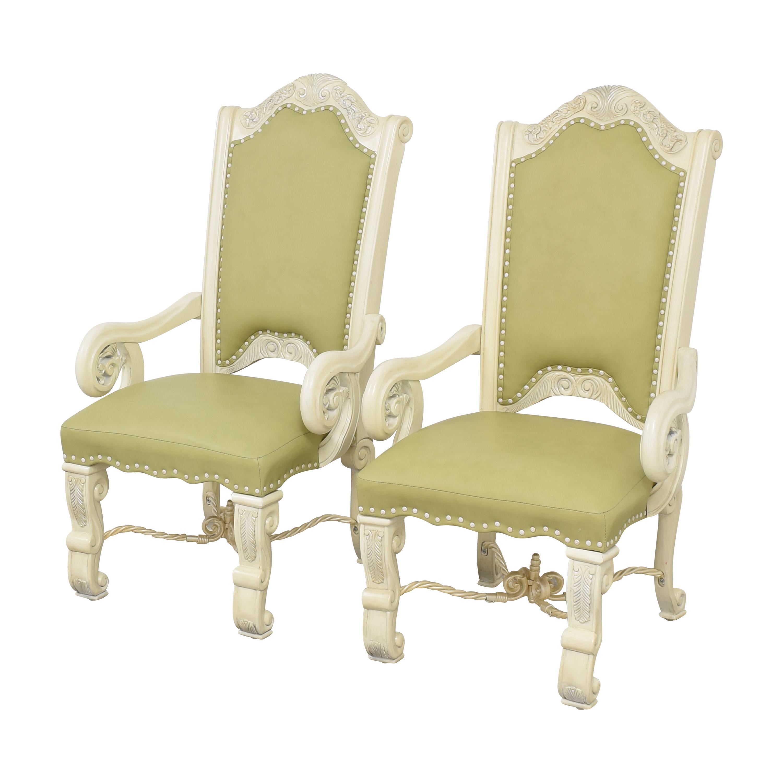 AICO AICO Monte Carlo Snow Dining Arm Chairs discount