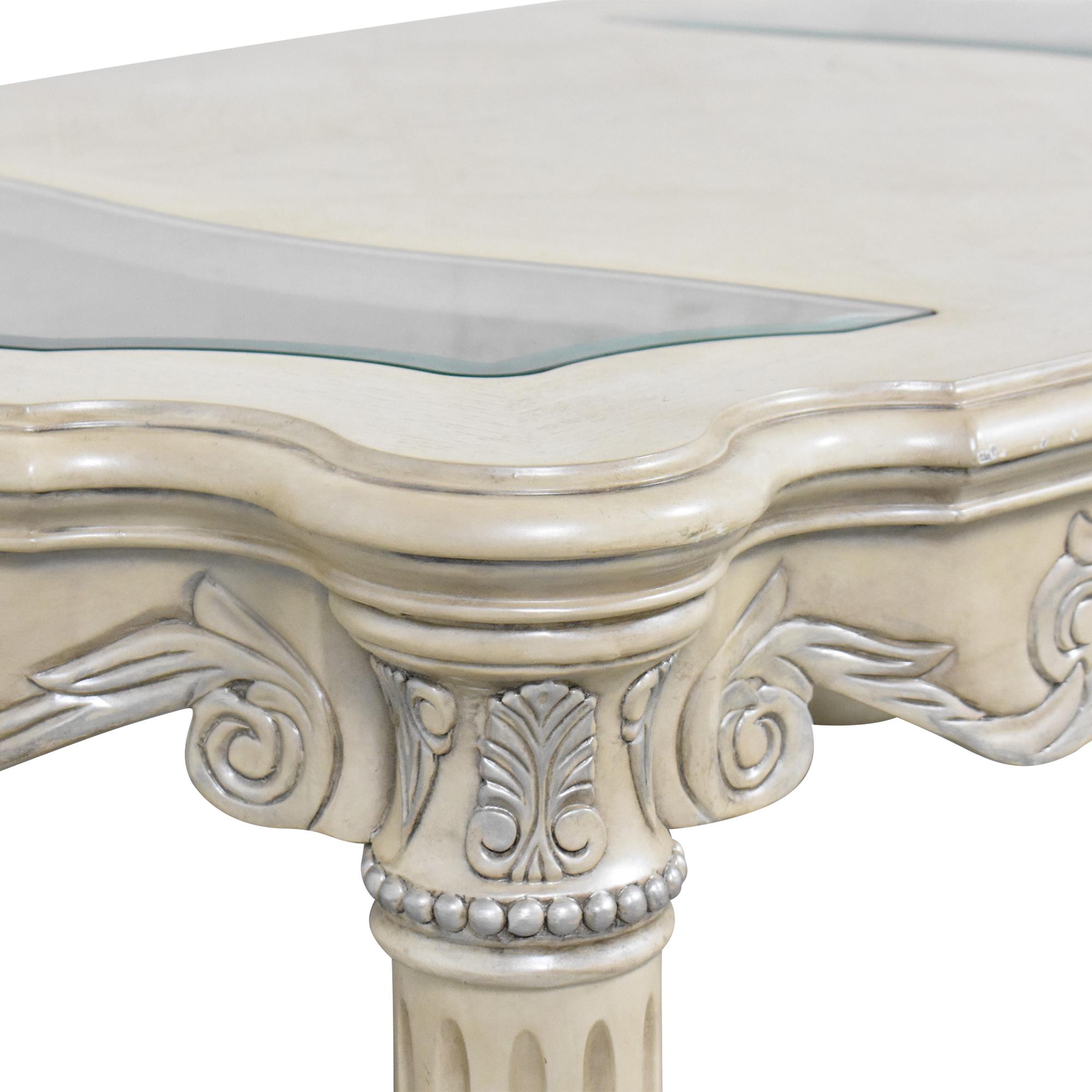 buy AICO Monte Carlo Cocktail Table in Silver Pearl AICO Tables