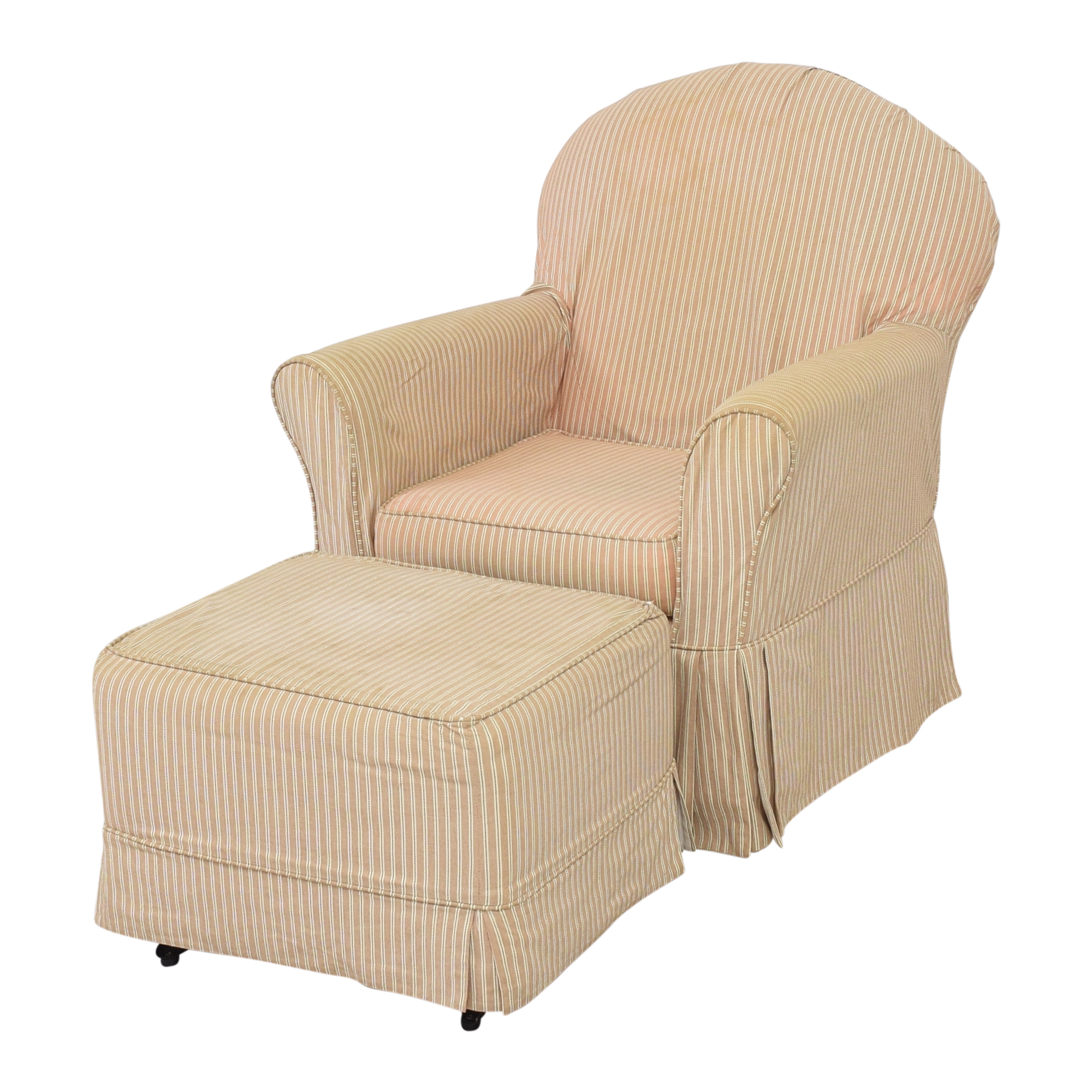 Little Castle Furniture Little Castle Furniture Slipcovered Royal Glider and Ottoman second hand
