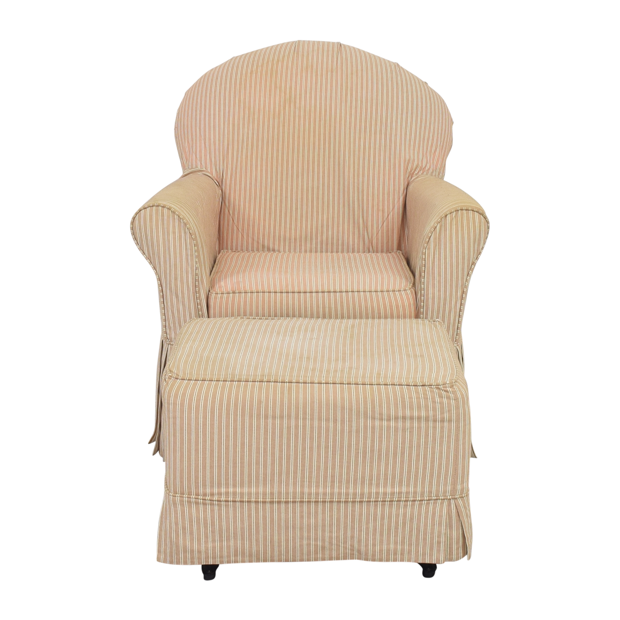 shop Little Castle Furniture Slipcovered Royal Glider and Ottoman Little Castle Furniture Chairs