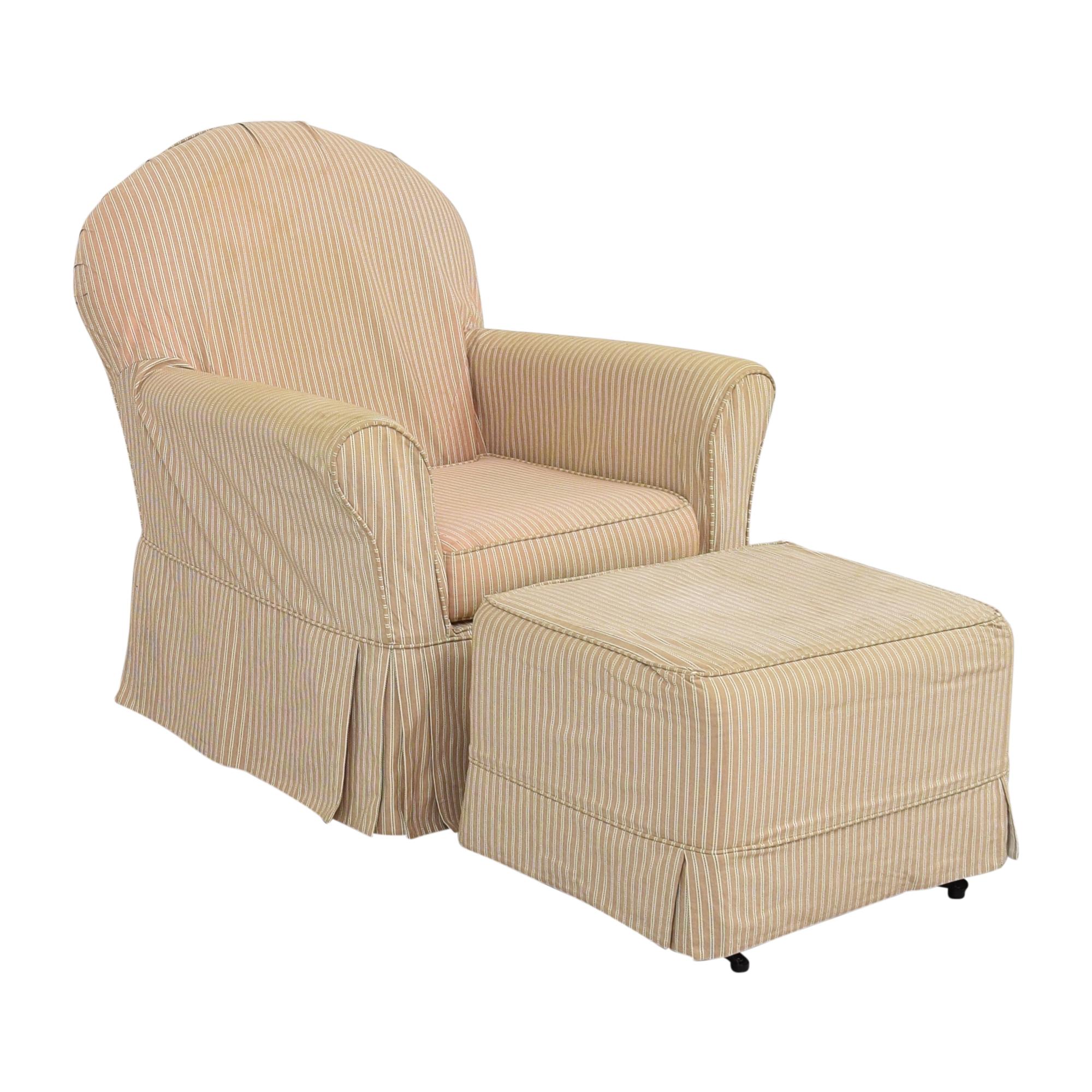 Little Castle Furniture Little Castle Furniture Slipcovered Royal Glider and Ottoman