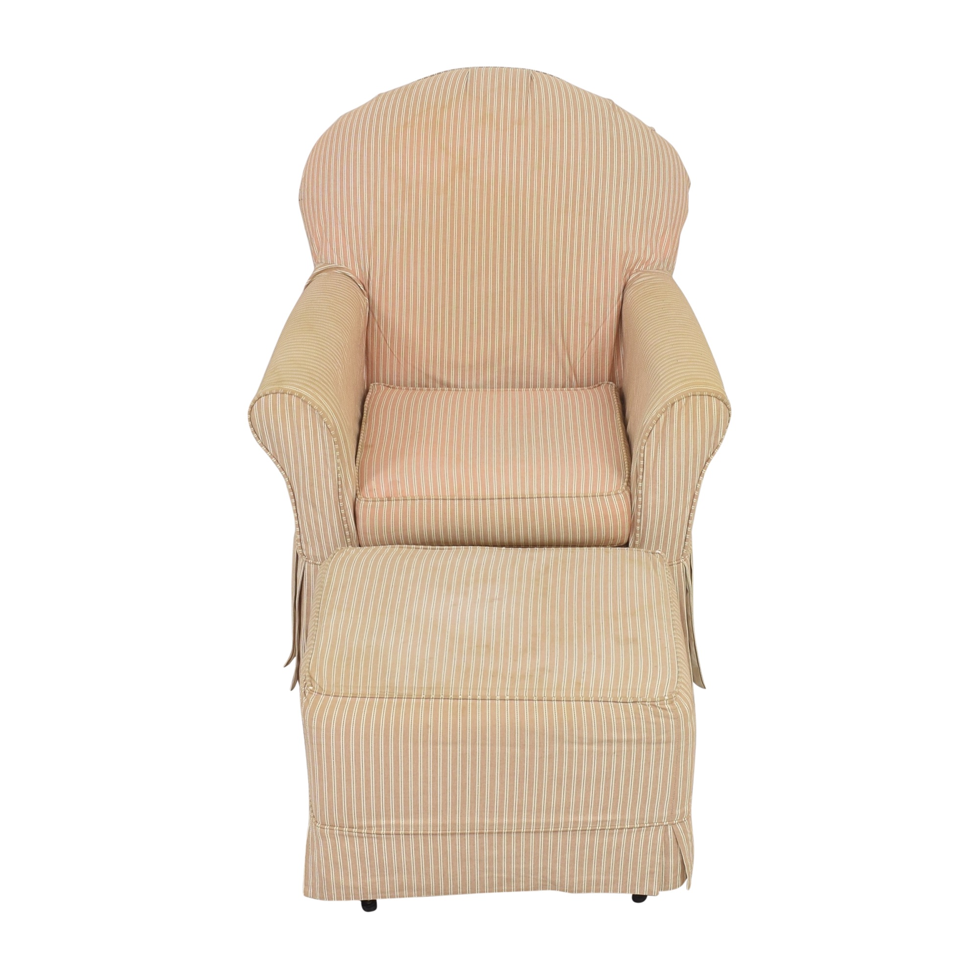 Little Castle Furniture Little Castle Furniture Slipcovered Royal Glider and Ottoman Accent Chairs