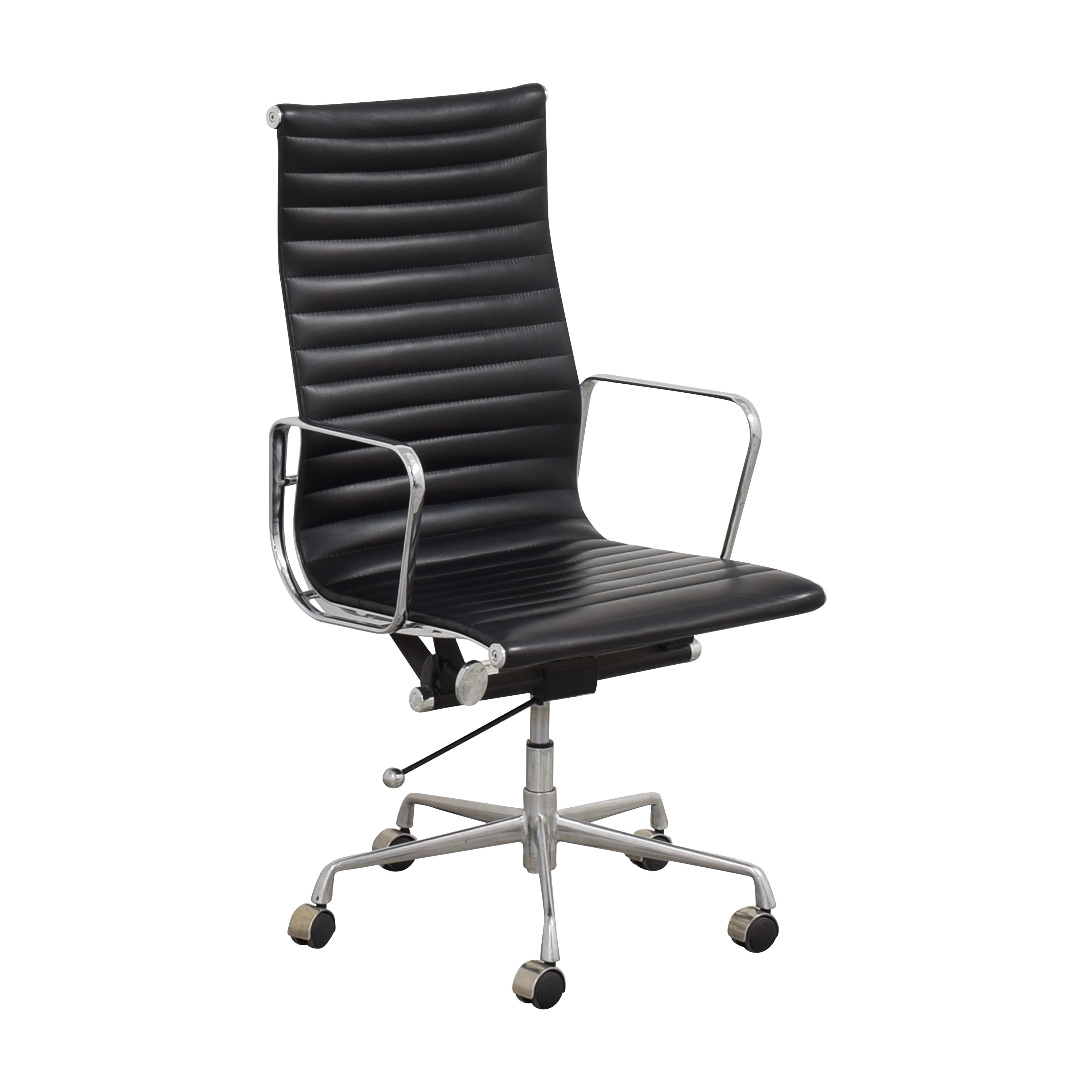 Eames-Style High Back Ribbed Office Chair ma