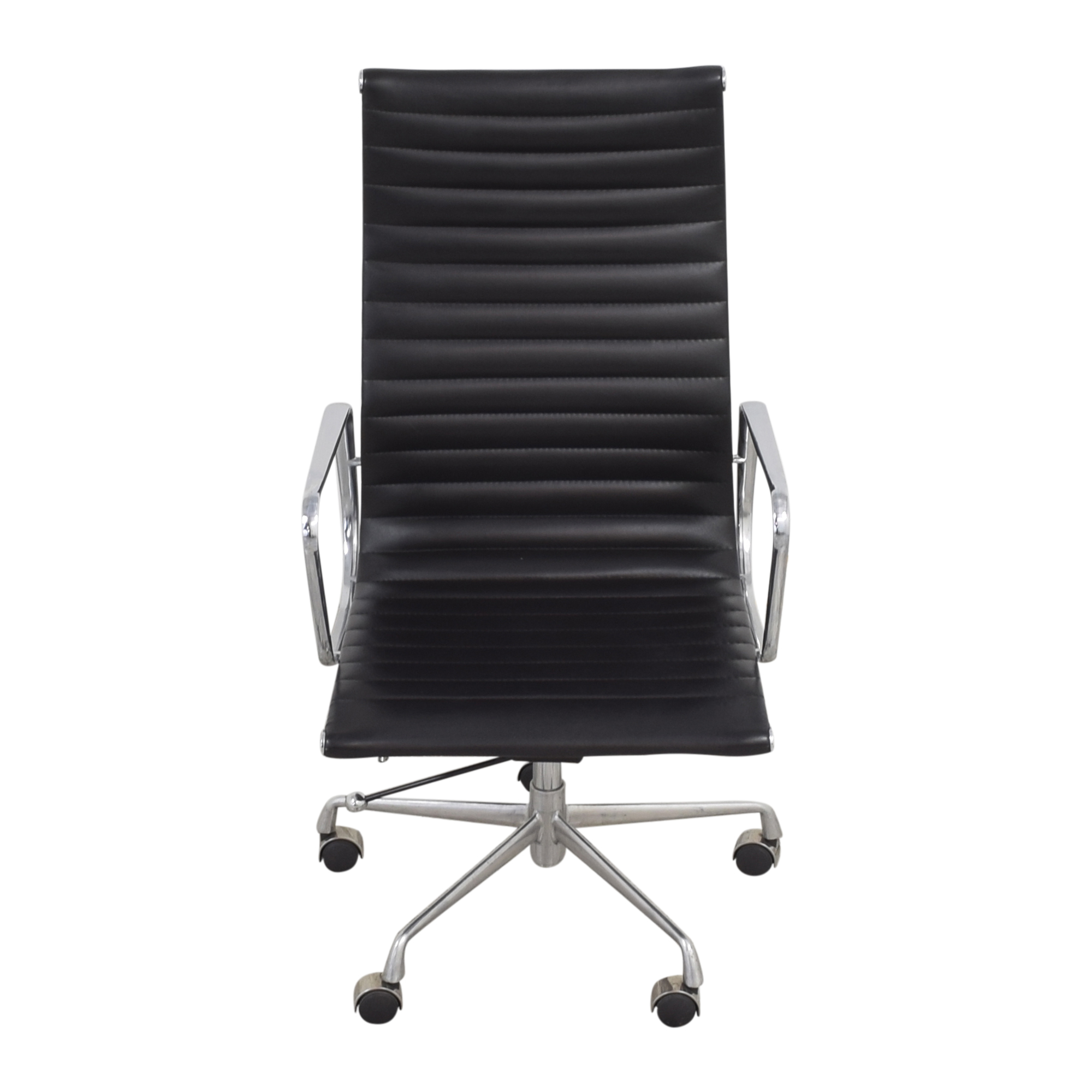 Eames-Style High Back Ribbed Office Chair used