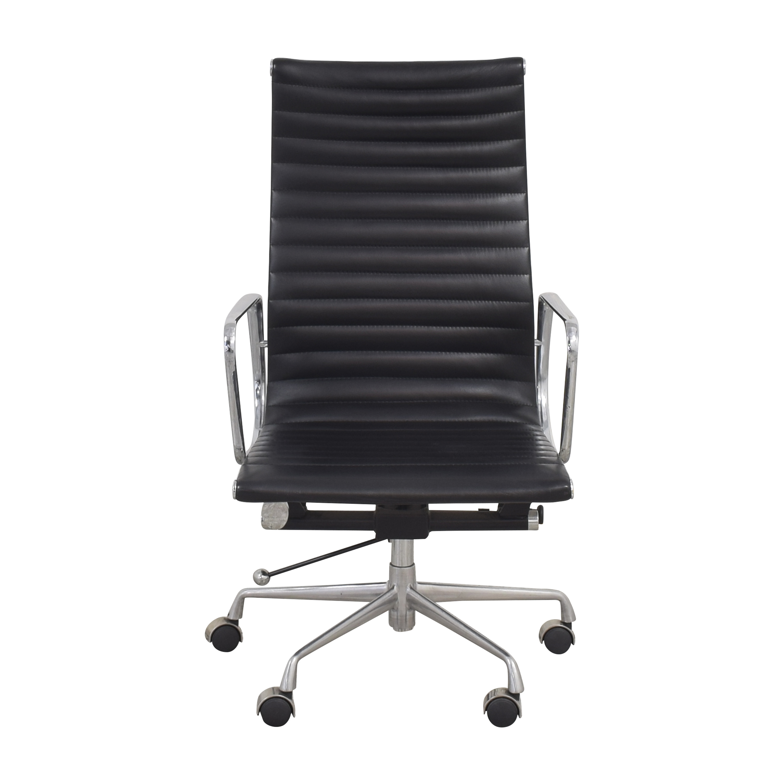 Eames-Style High Back Ribbed Office Chair pa