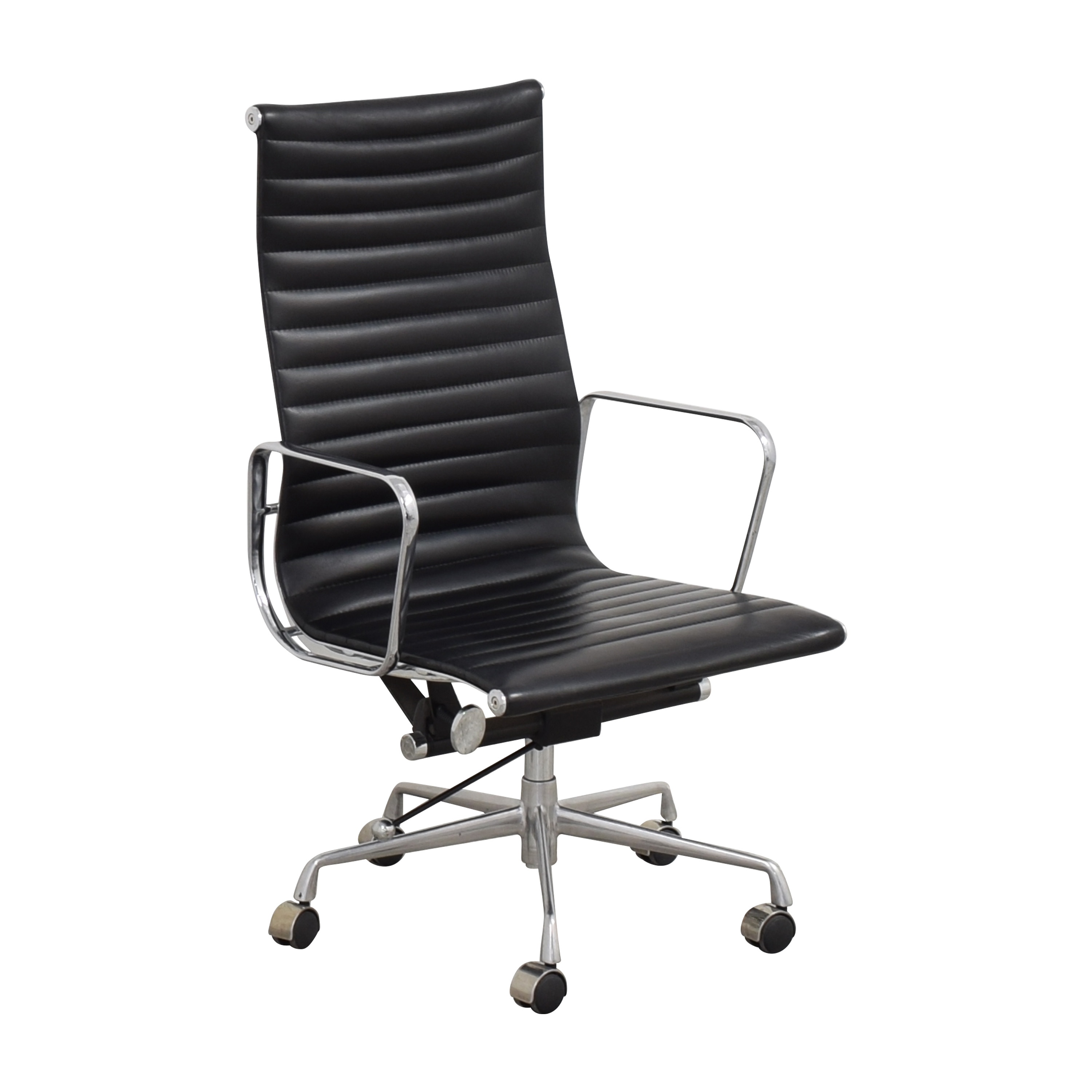 Eames-Style High Back Ribbed Office Chair dimensions