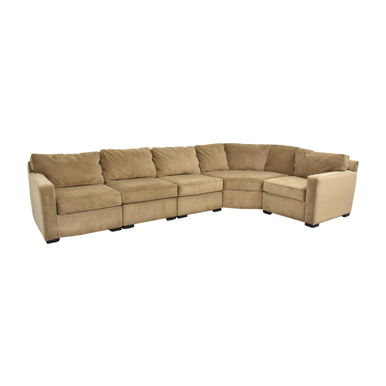 Macy's Macy's Five Piece Corner Sectional Sofa tan