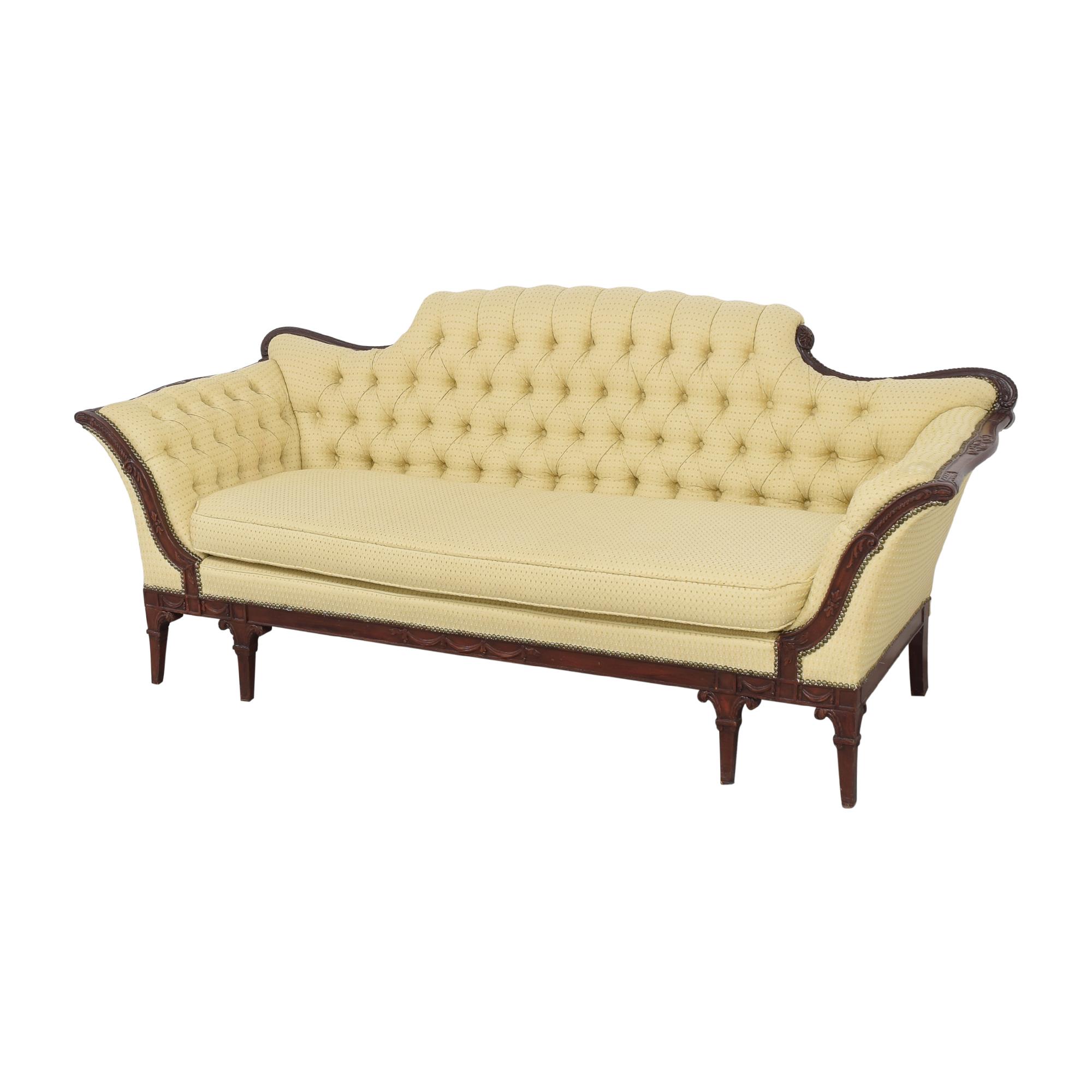 buy Vintage Tufted Camelback Sofa