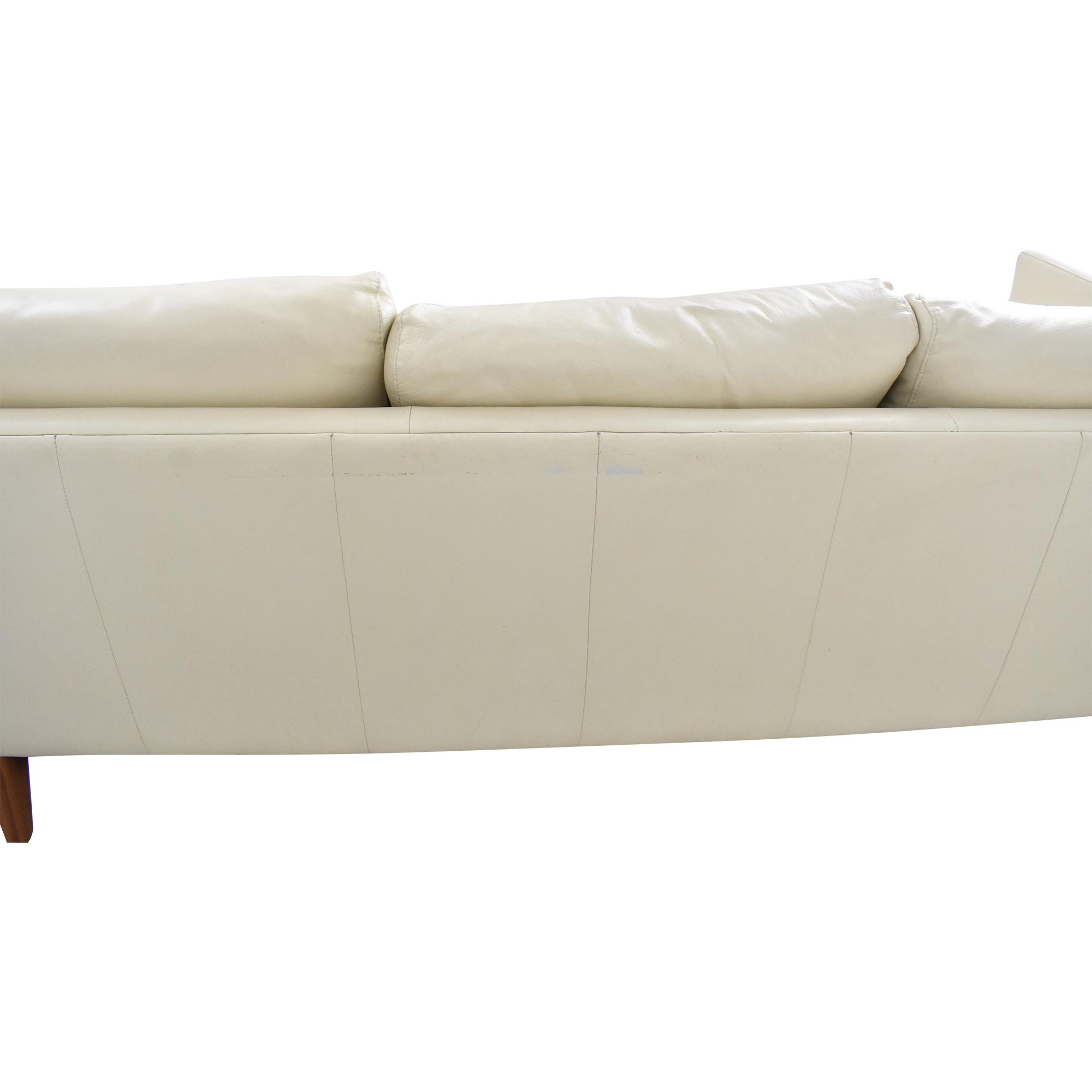 buy Elite Leather Company Burbank Chaise Sectional Sofa Elite Leather Company Sofas