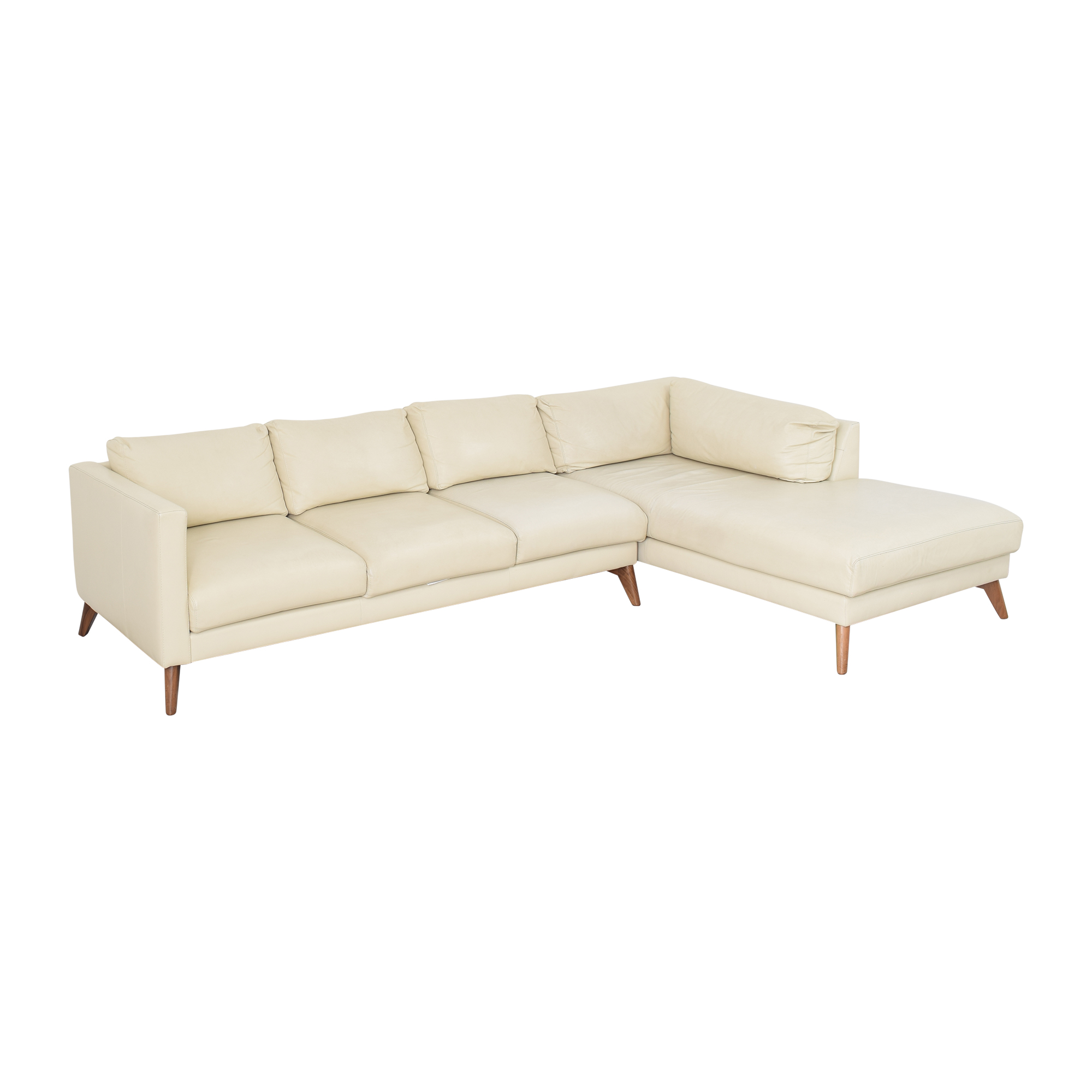 Elite Leather Company Elite Leather Company Burbank Chaise Sectional Sofa Sofas