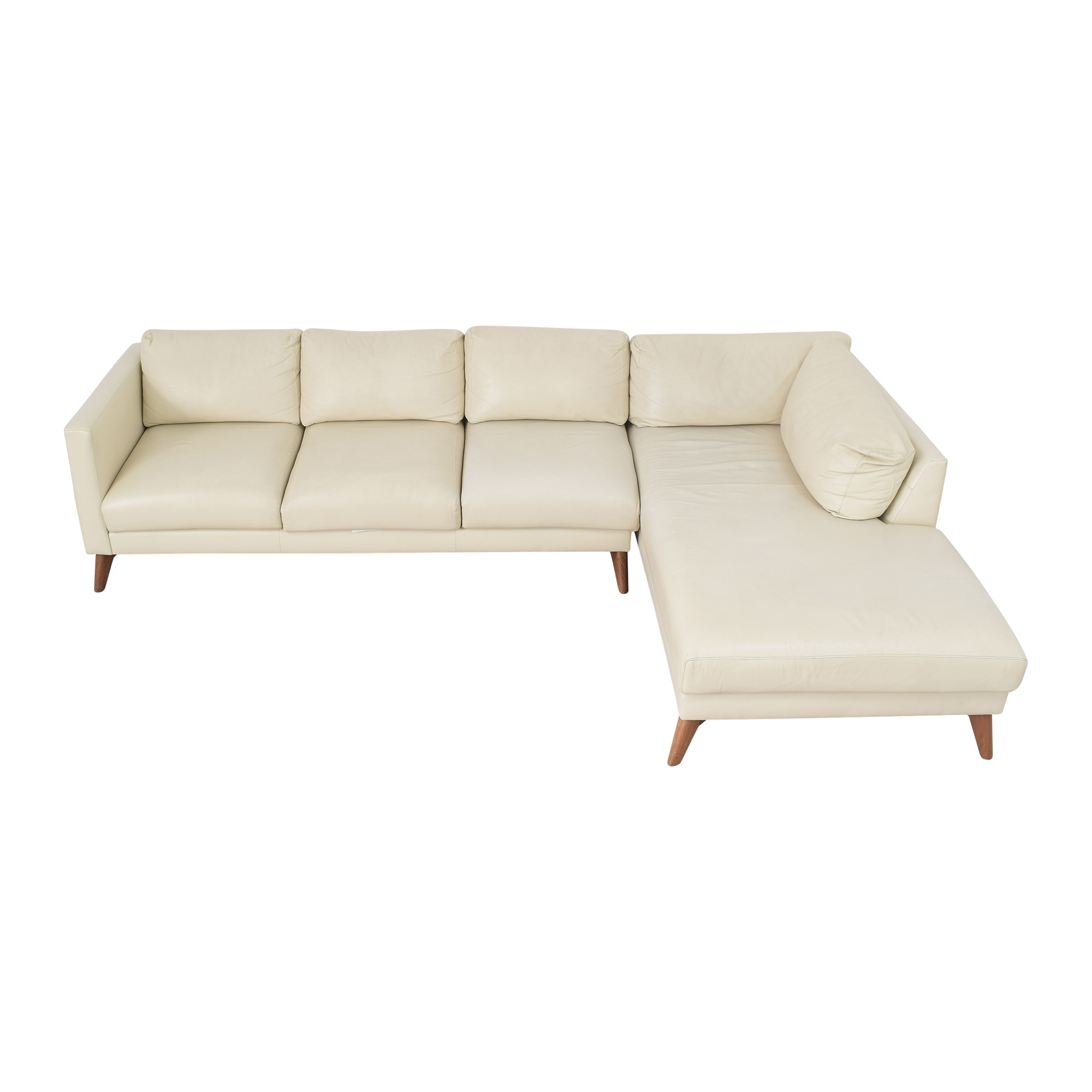 buy Elite Leather Company Elite Leather Company Burbank Chaise Sectional Sofa online