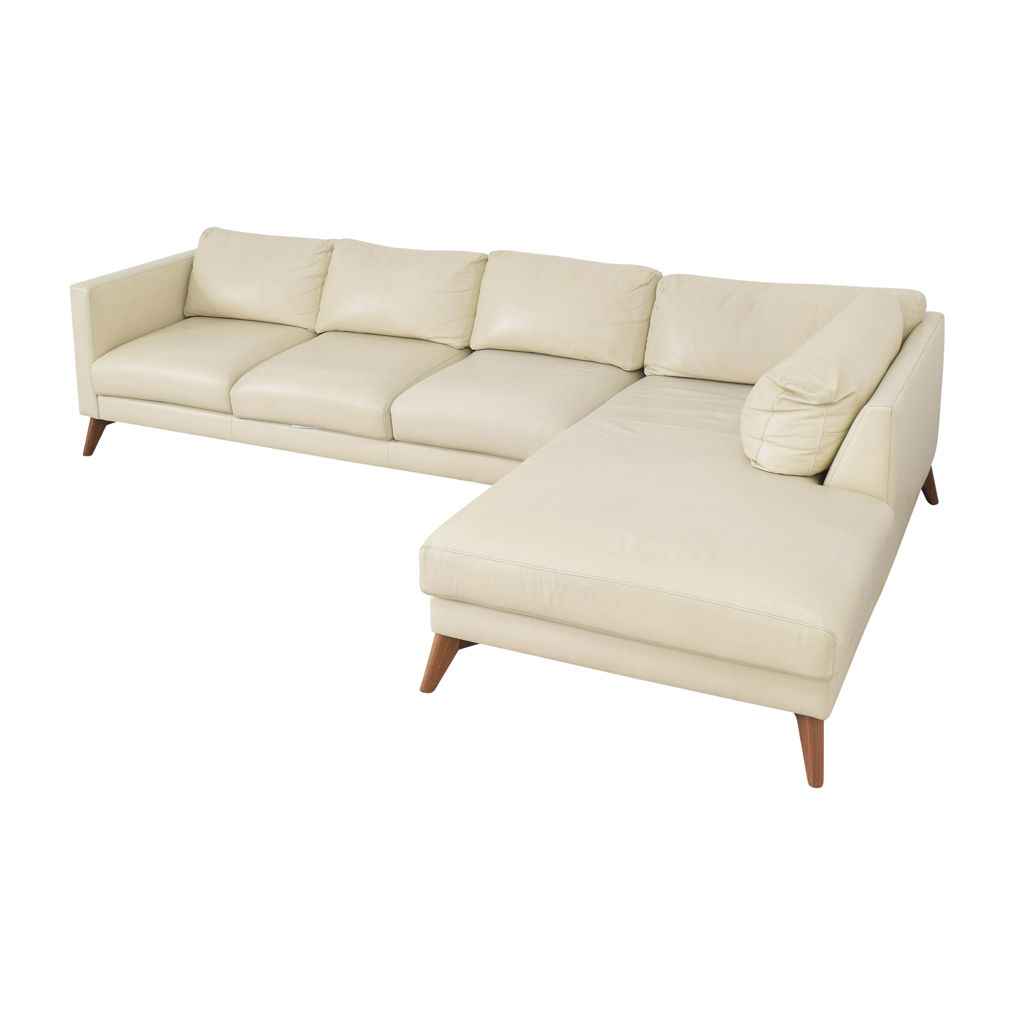Elite Leather Company Elite Leather Company Burbank Chaise Sectional Sofa used