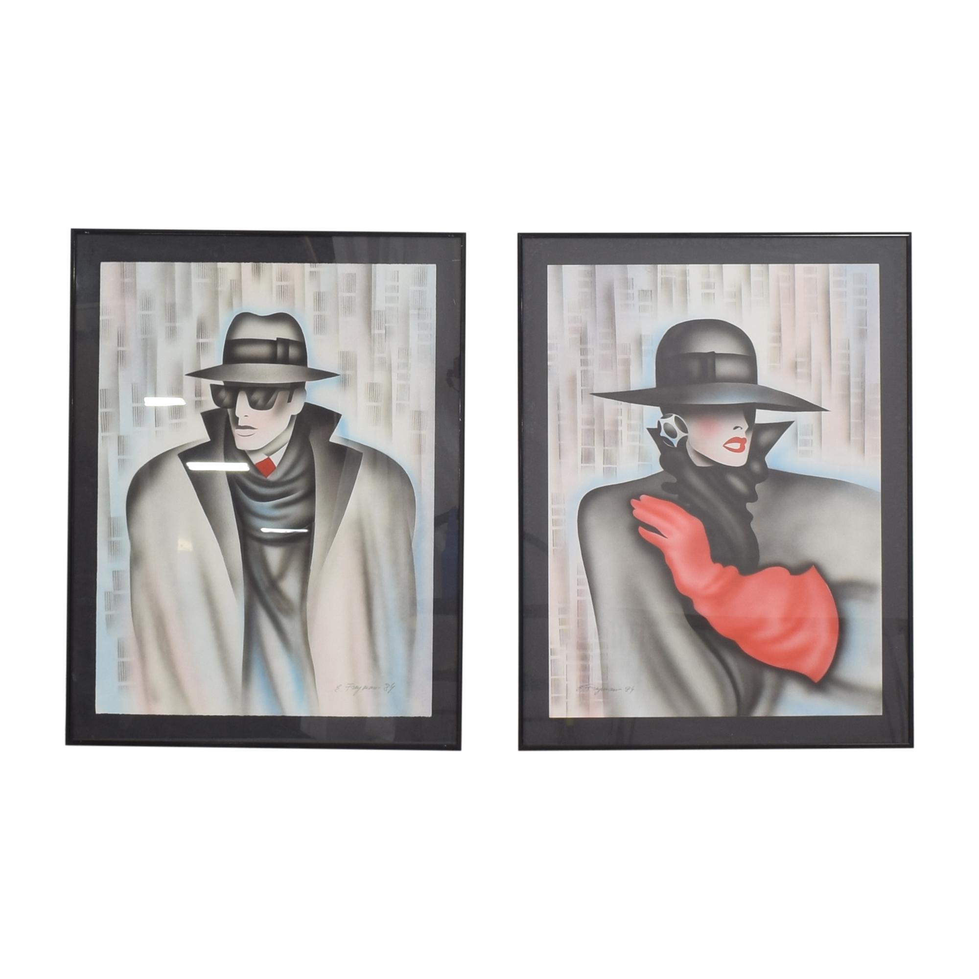 Framed Erik Freyman Wall Art used