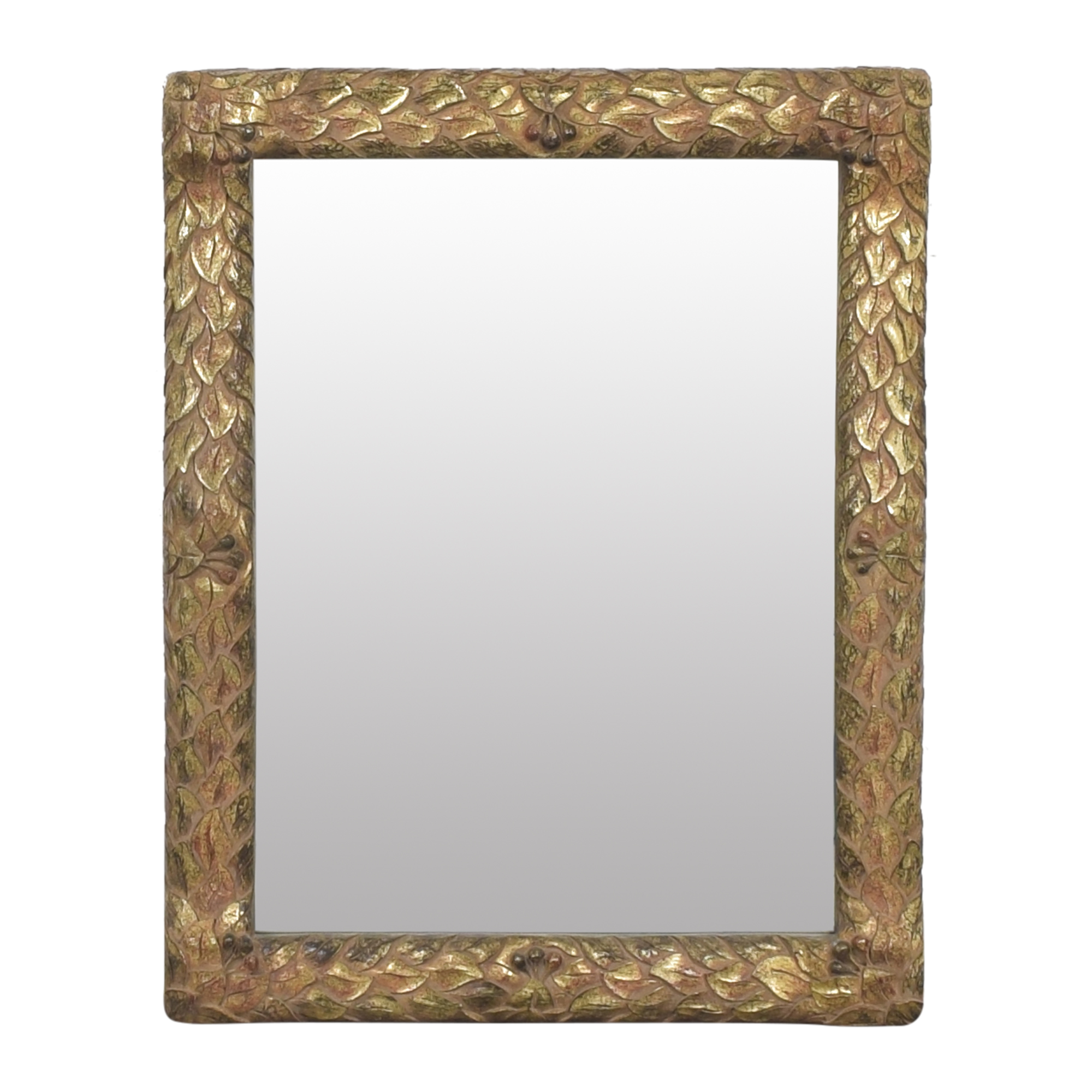 shop Wall Mirror with Carved Frame  Decor