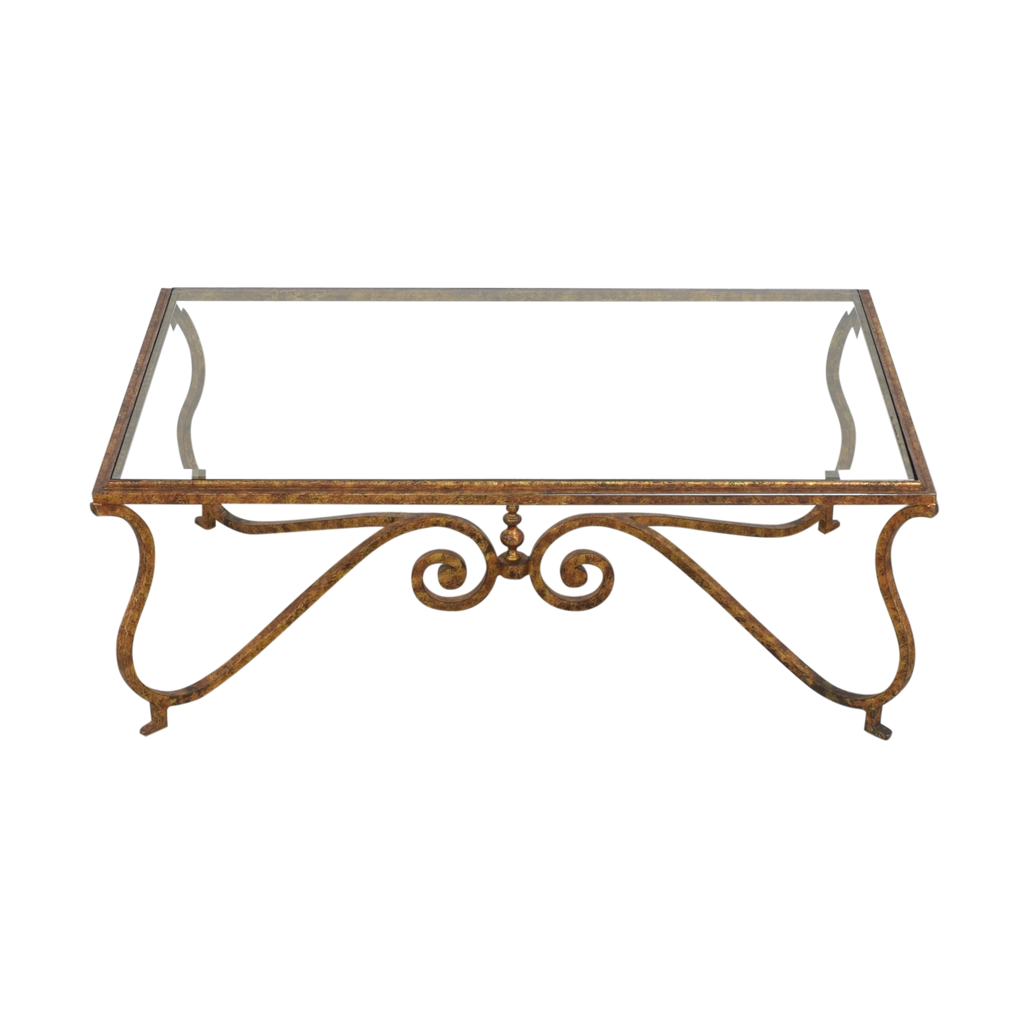 Ornate Rectangular Coffee Table Coffee Tables