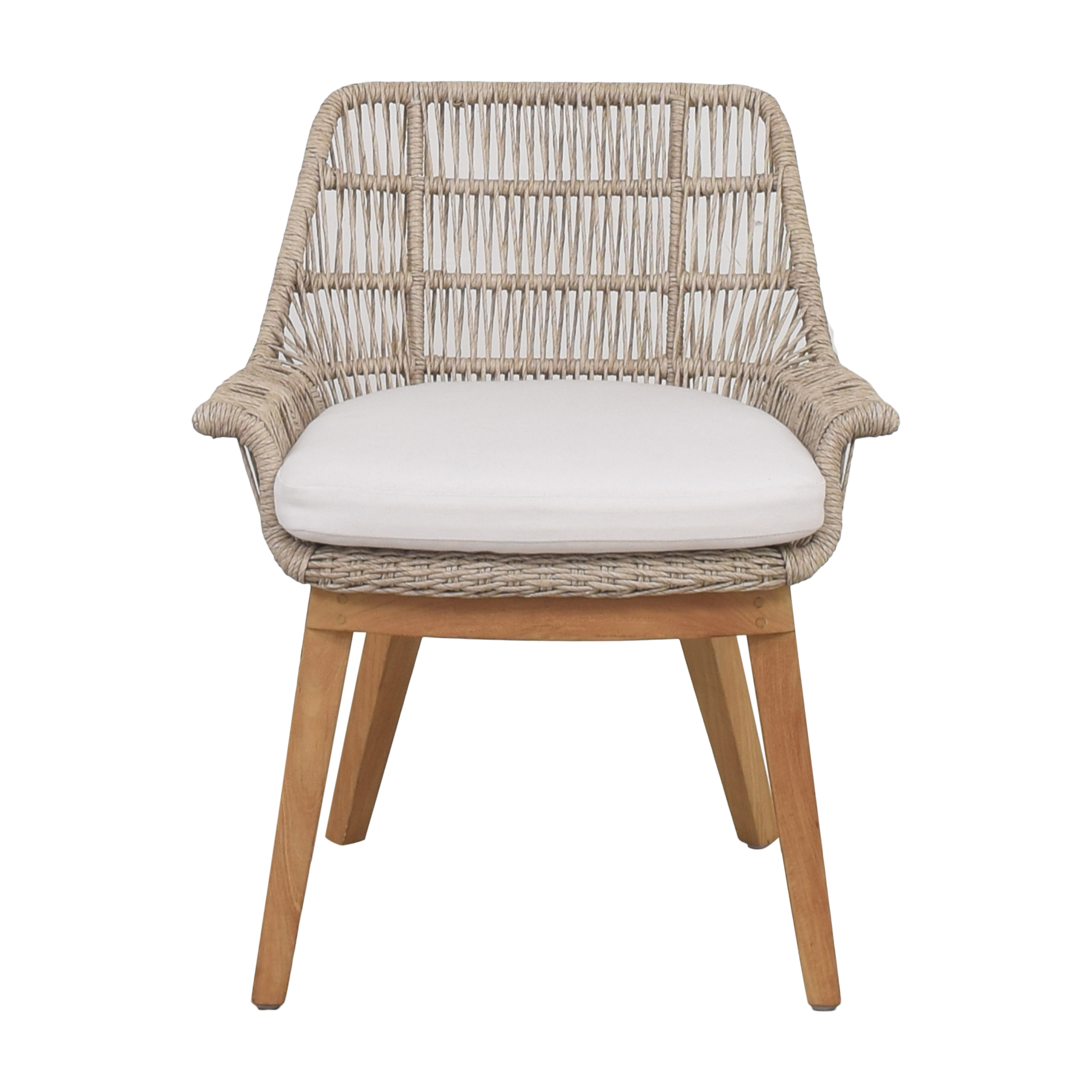 Woven Accent Chair with Cushion Chairs