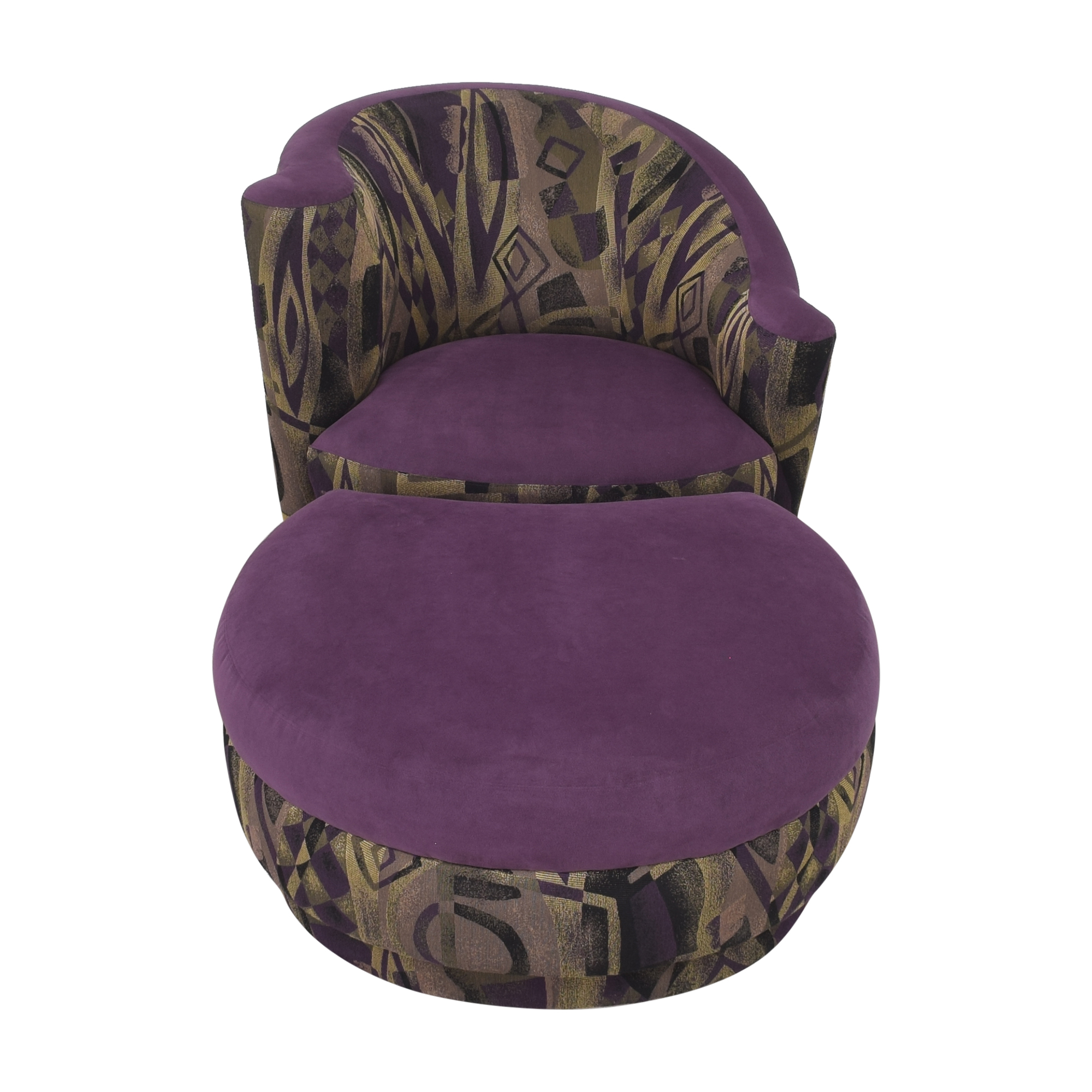 Weiman Weiman Nautilus Lounge Chair and Ottoman second hand