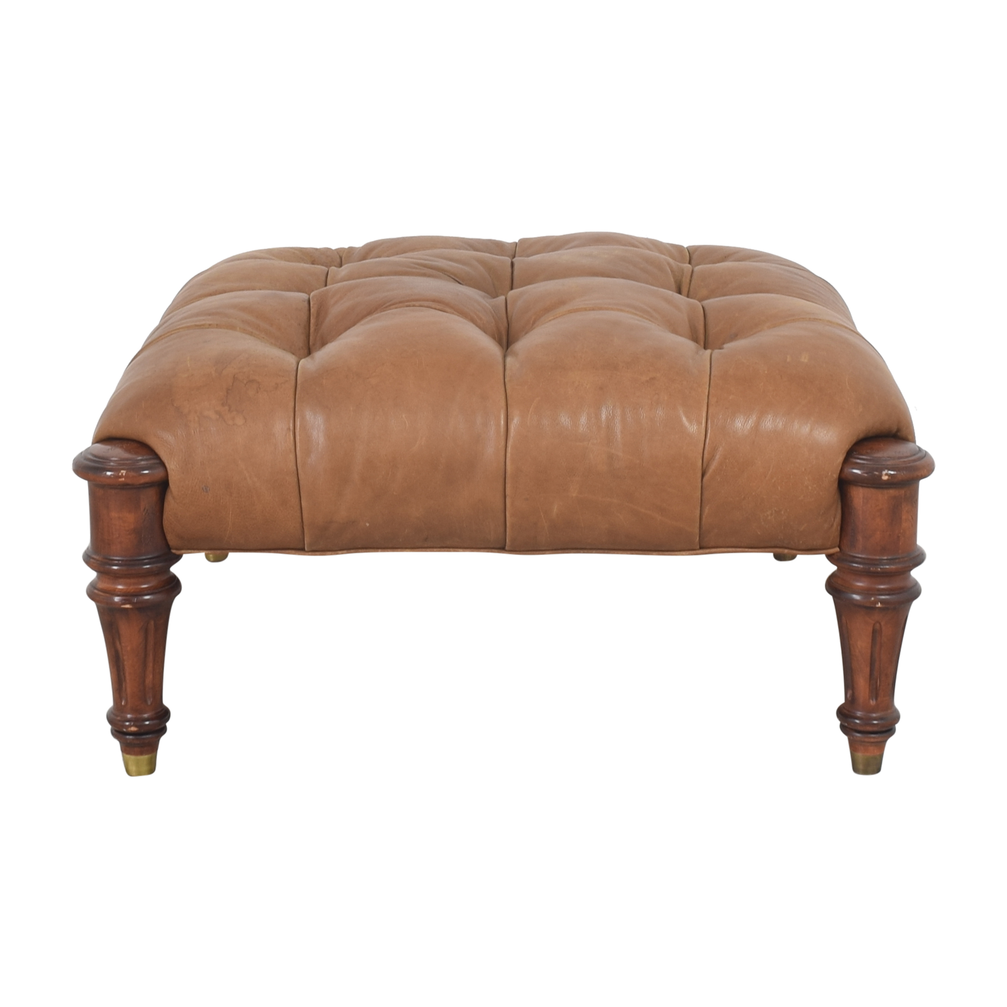 Hancock and Moore Tufted Ottoman sale
