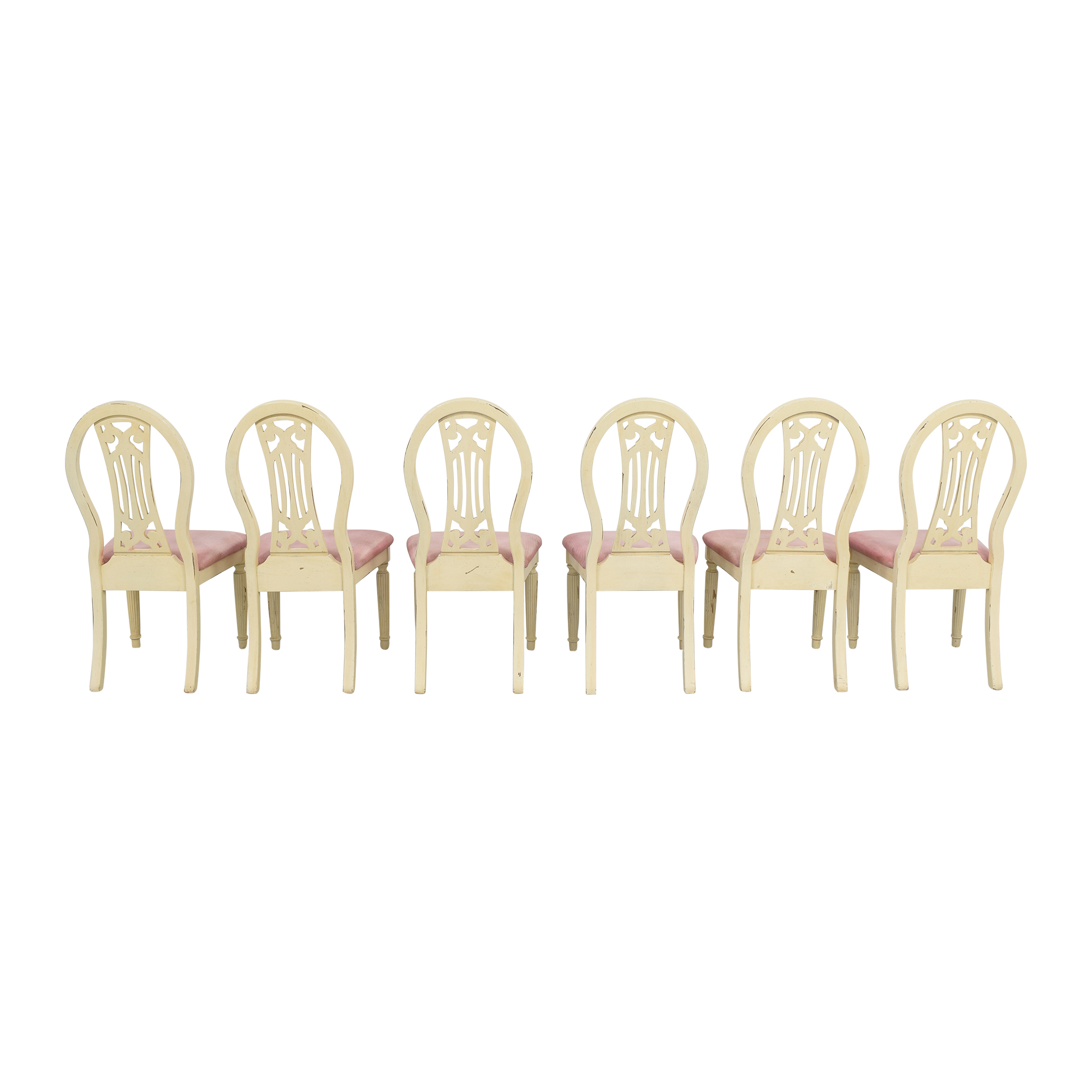 Rustic Upholstered Seat Dining Chairs second hand