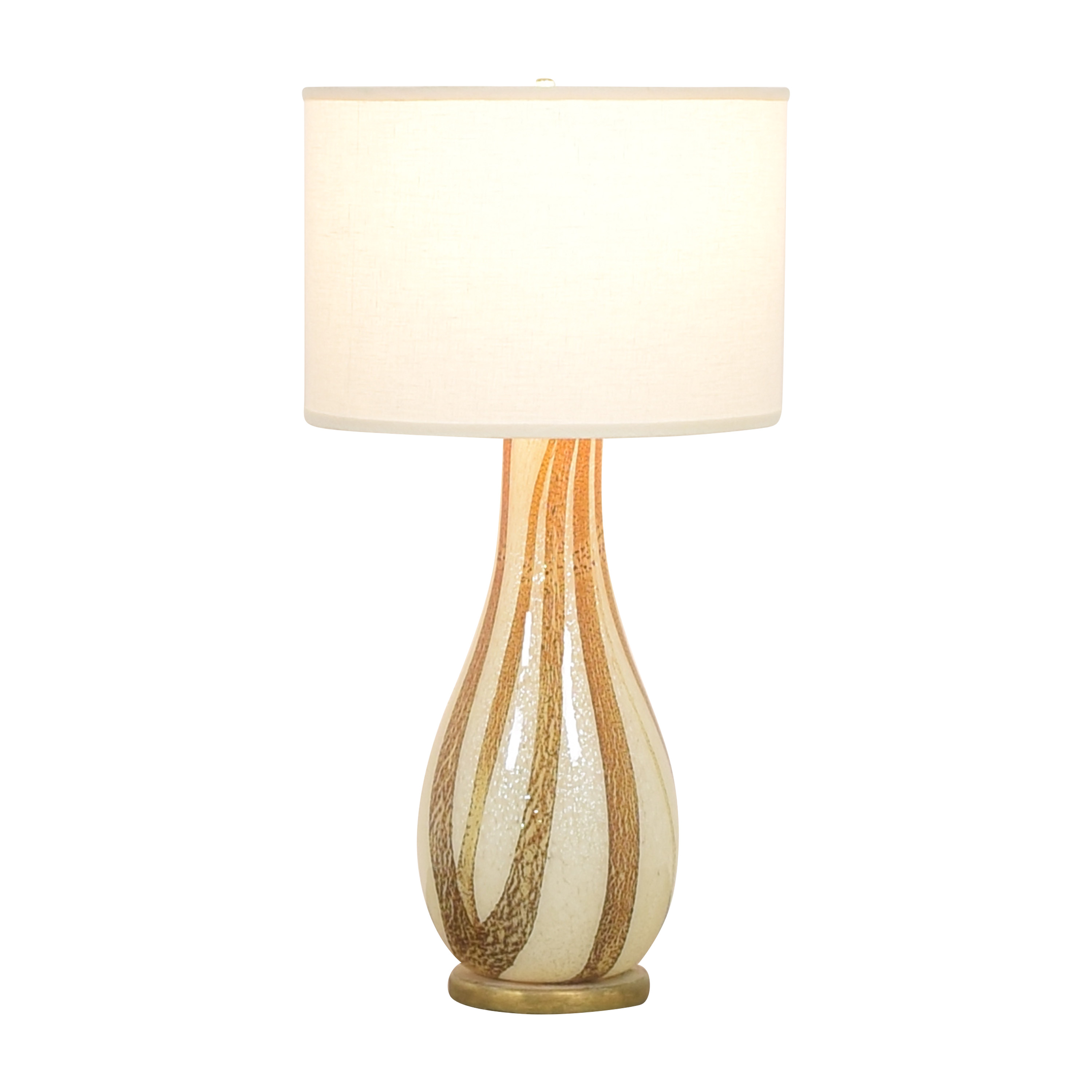 Vase Style Table Lamp off white & gold