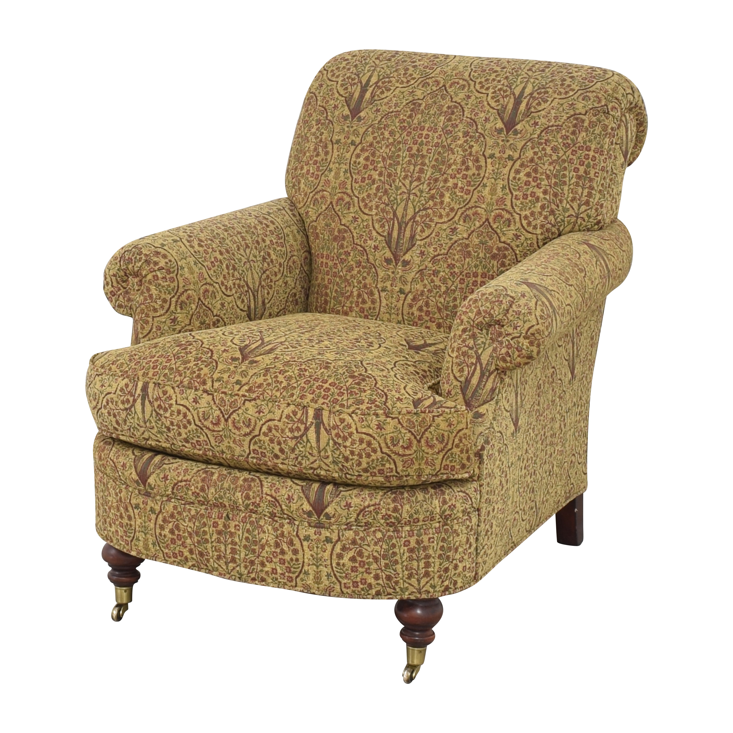 buy Lewis Mittman Roll Arm Accent Chair Lewis Mittman Chairs