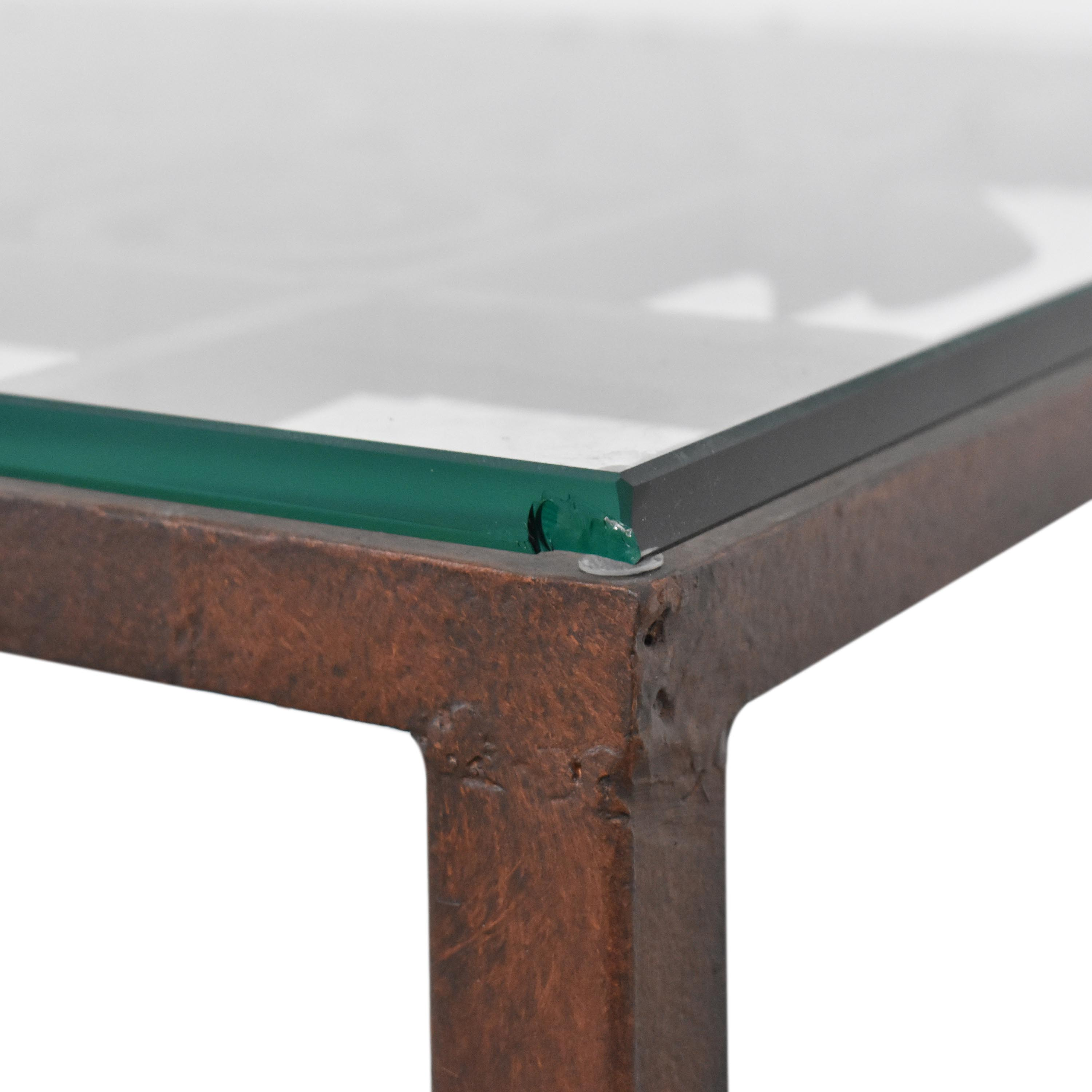 buy Open Work Coffee Table with Transparent Surface  Tables