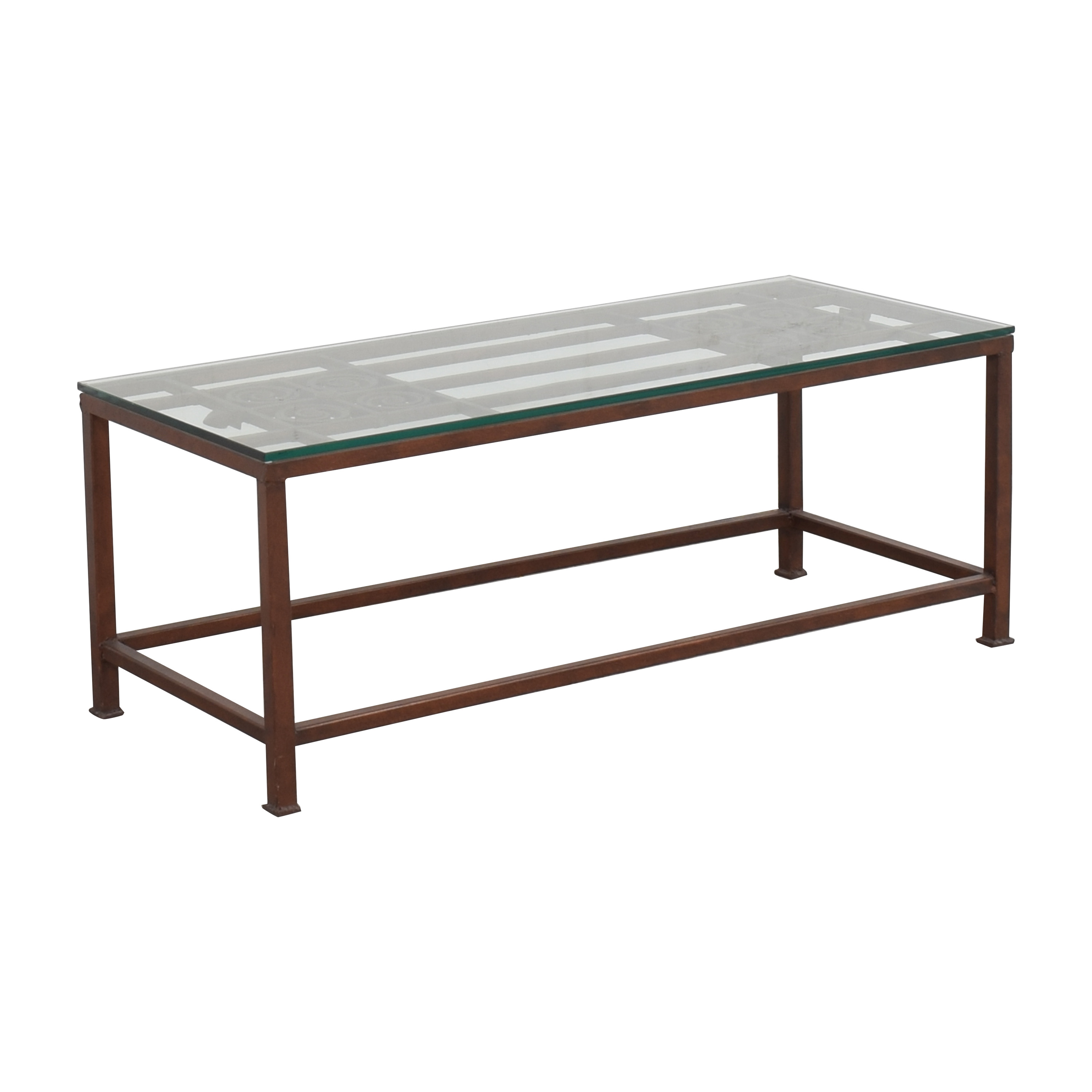 Open Work Coffee Table with Transparent Surface / Coffee Tables