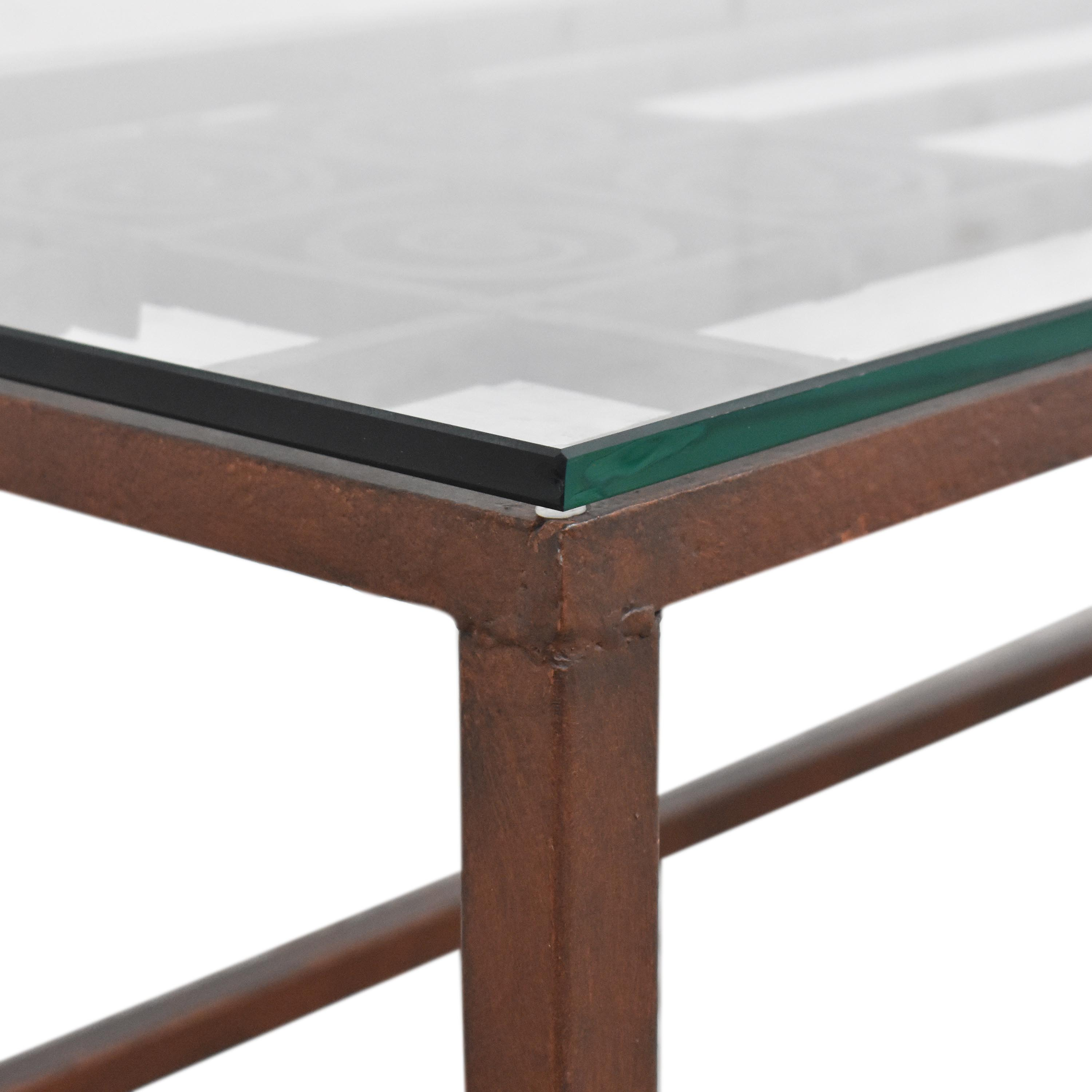 Open Work Coffee Table with Transparent Surface price