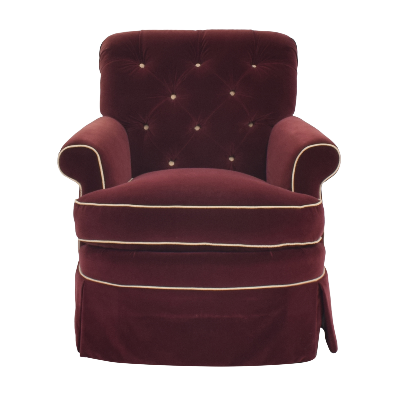 shop Lewis Mittman Skirted Arm Chair  Lewis Mittman Chairs