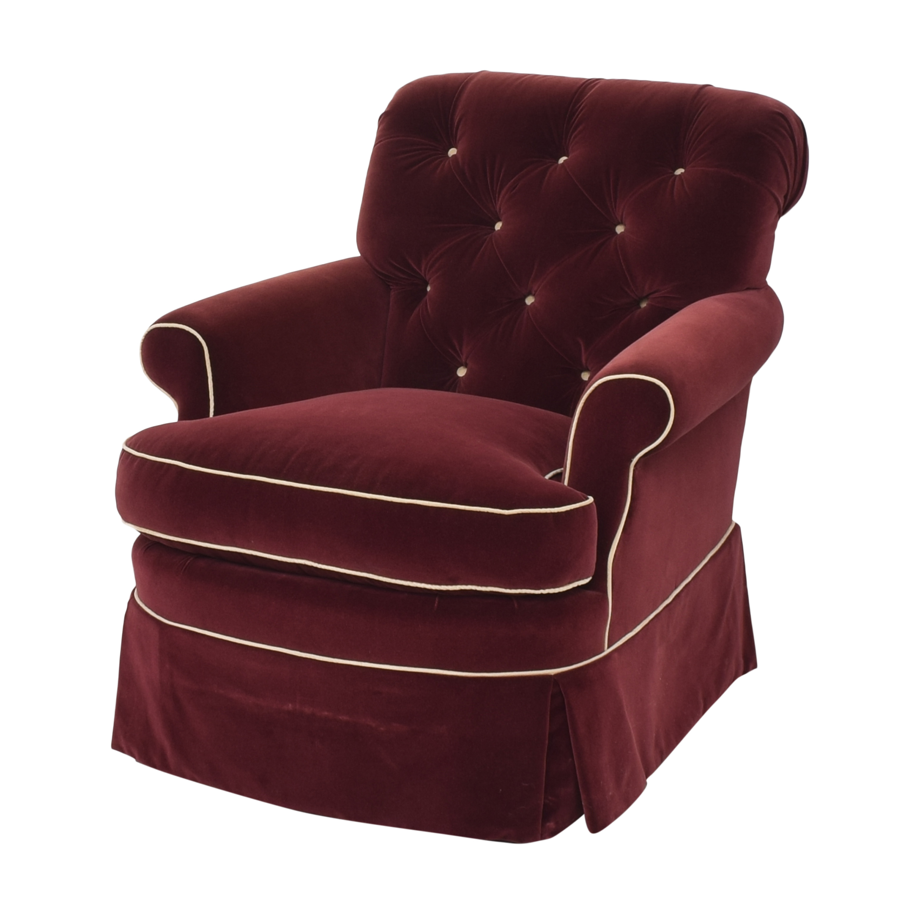 buy Lewis Mittman Skirted Arm Chair  Lewis Mittman Accent Chairs