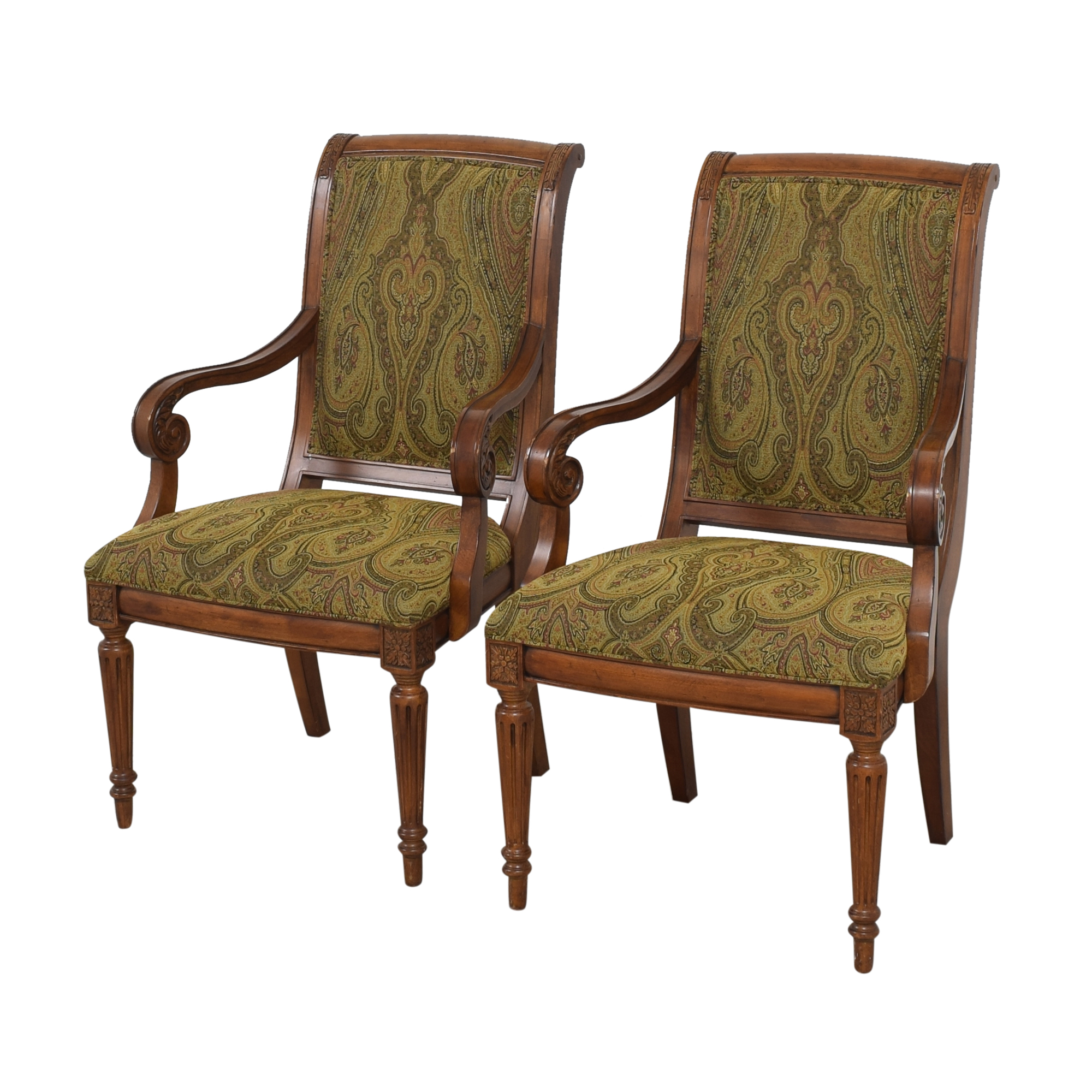 Ethan Allen Ethan Allen Adison Dining Arm Chairs ct