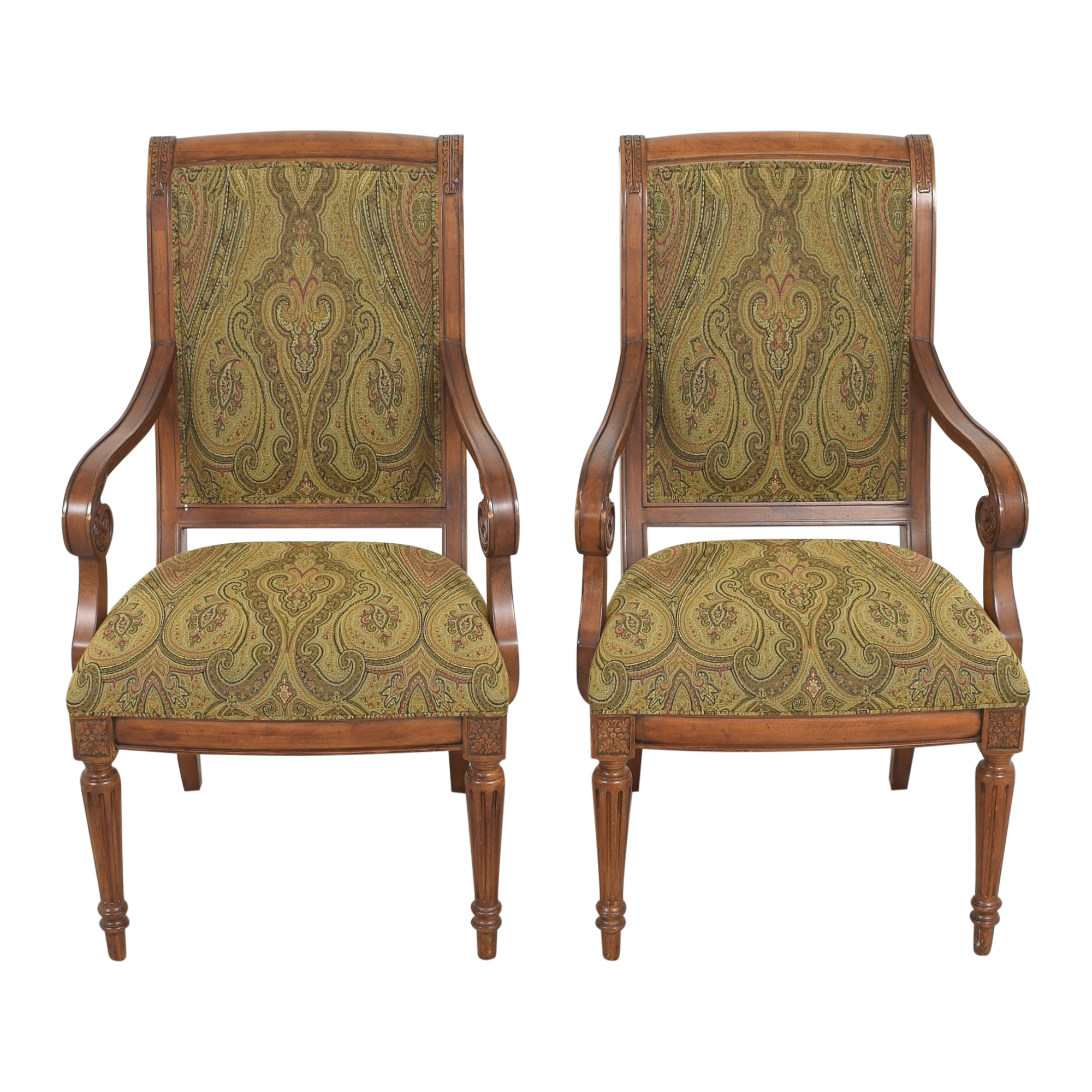 buy Ethan Allen Adison Dining Arm Chairs Ethan Allen Dining Chairs