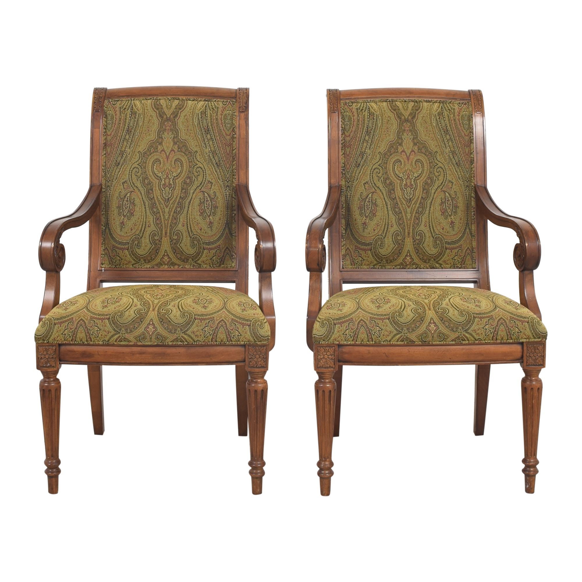 Ethan Allen Ethan Allen Adison Dining Arm Chairs Dining Chairs