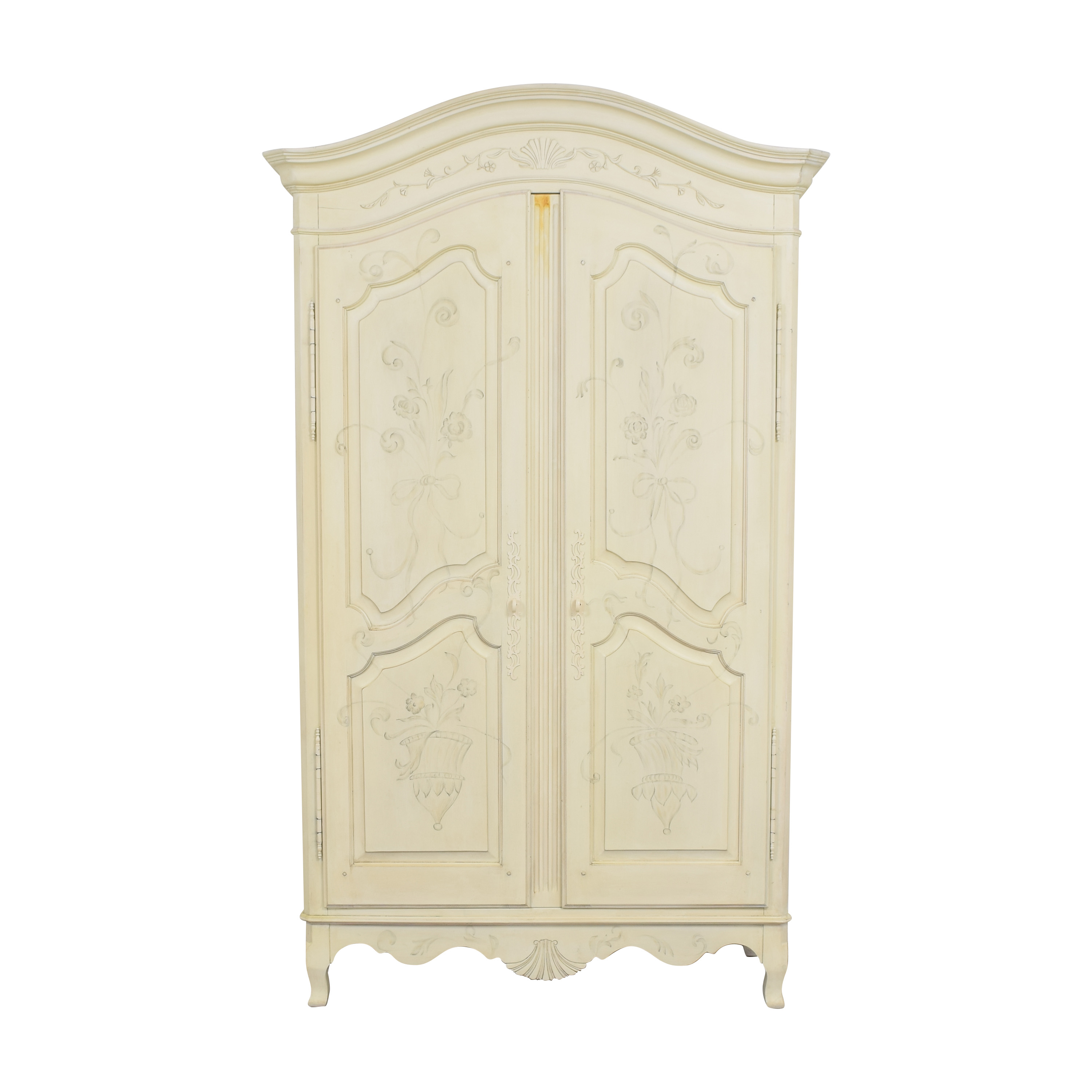 Ethan Allen Ethan Allen Decorated Country French Armoire nj