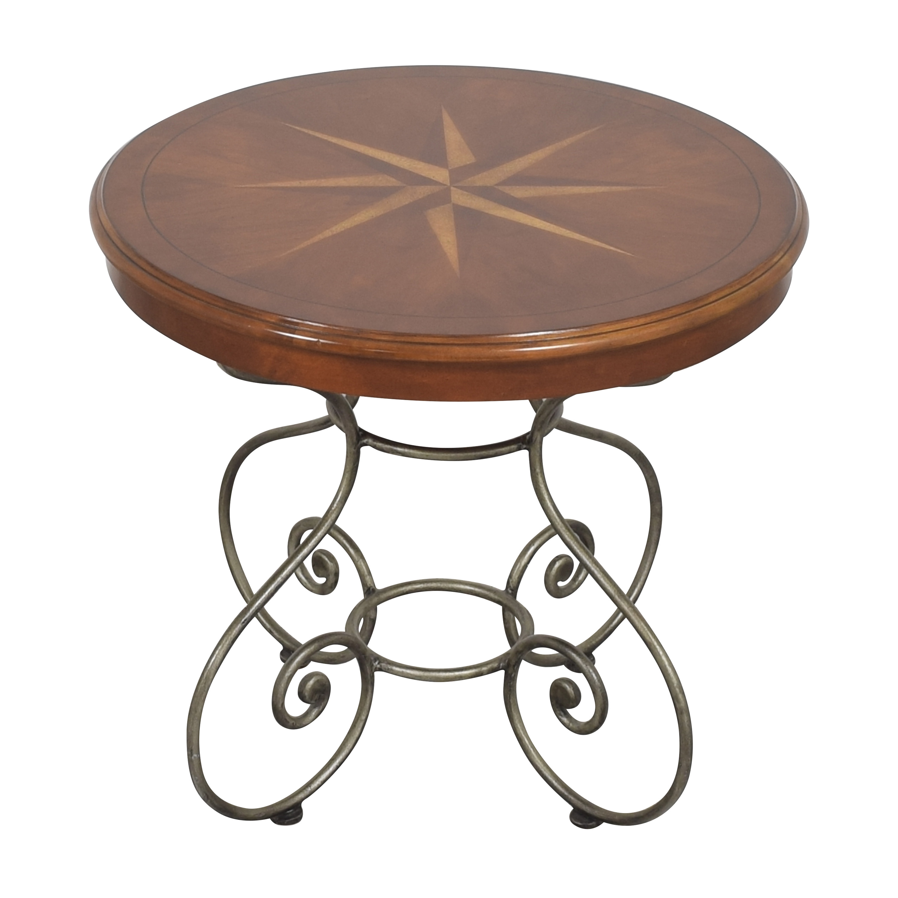 buy Ethan Allen Ornate Round End Table Ethan Allen Tables