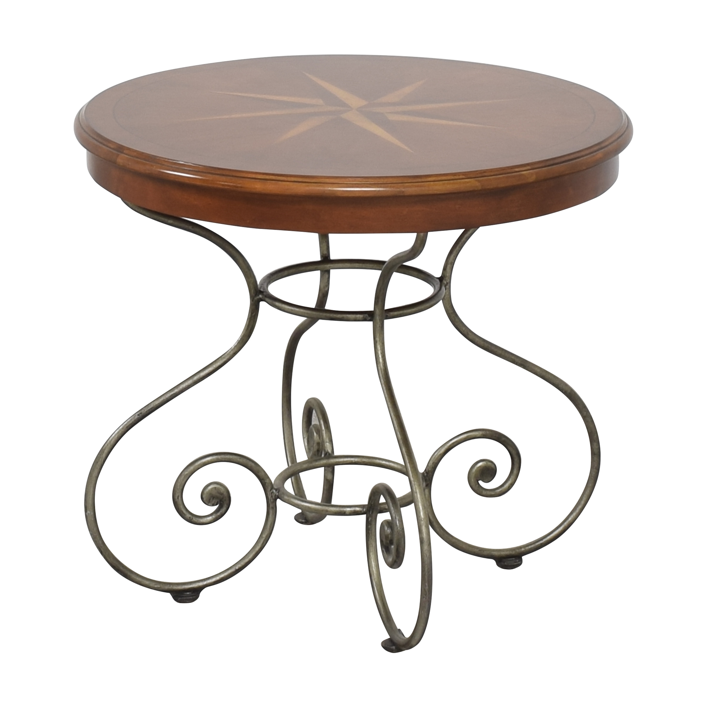 Ethan Allen Ornate Round End Table Ethan Allen