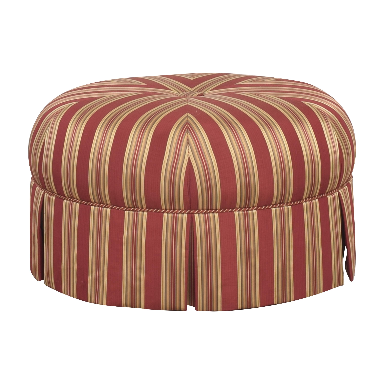 Century Furniture Century Furniture Arden Round Ottoman red, gold