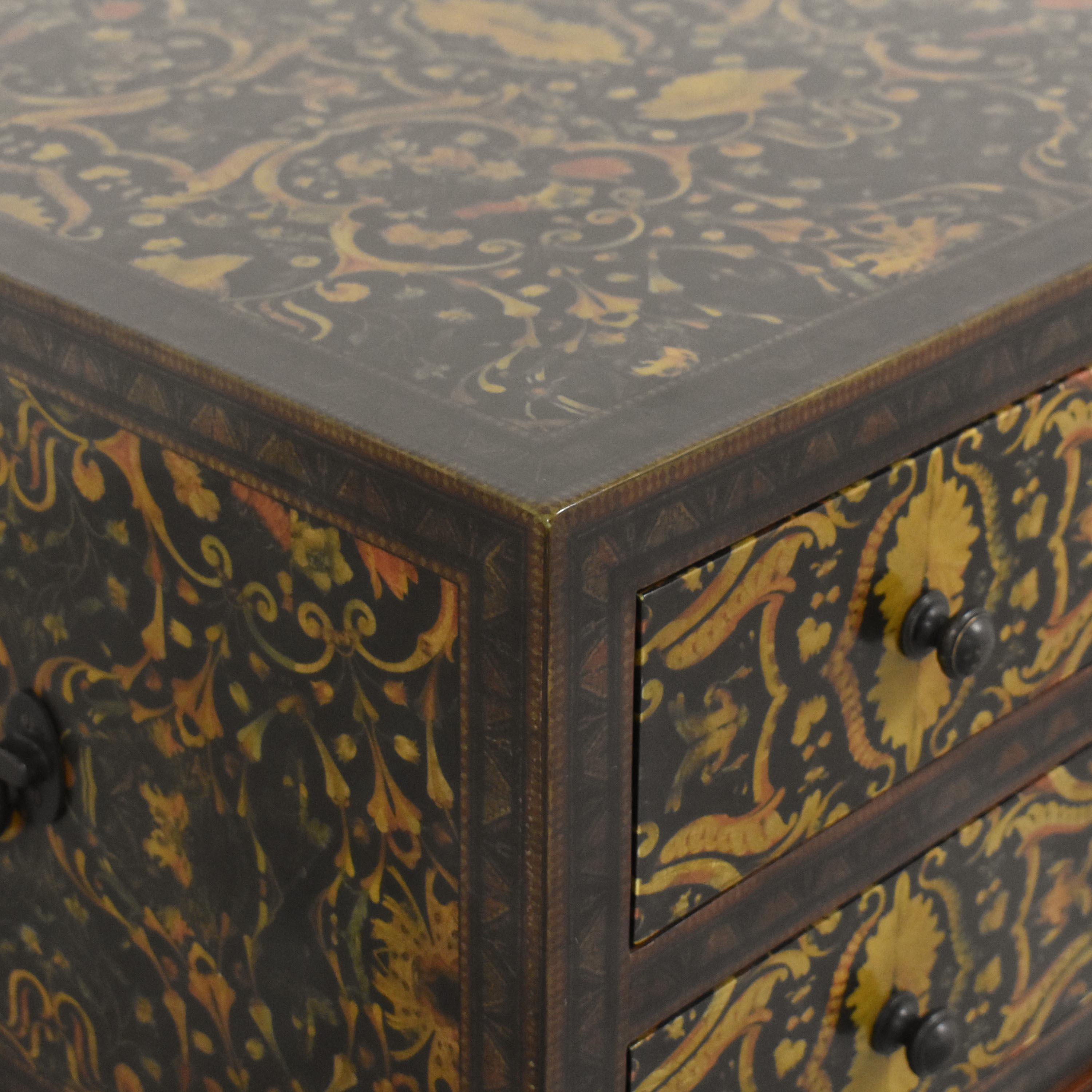 shop Theodore Alexander Decoupage Bedside Chest Theodore Alexander Tables