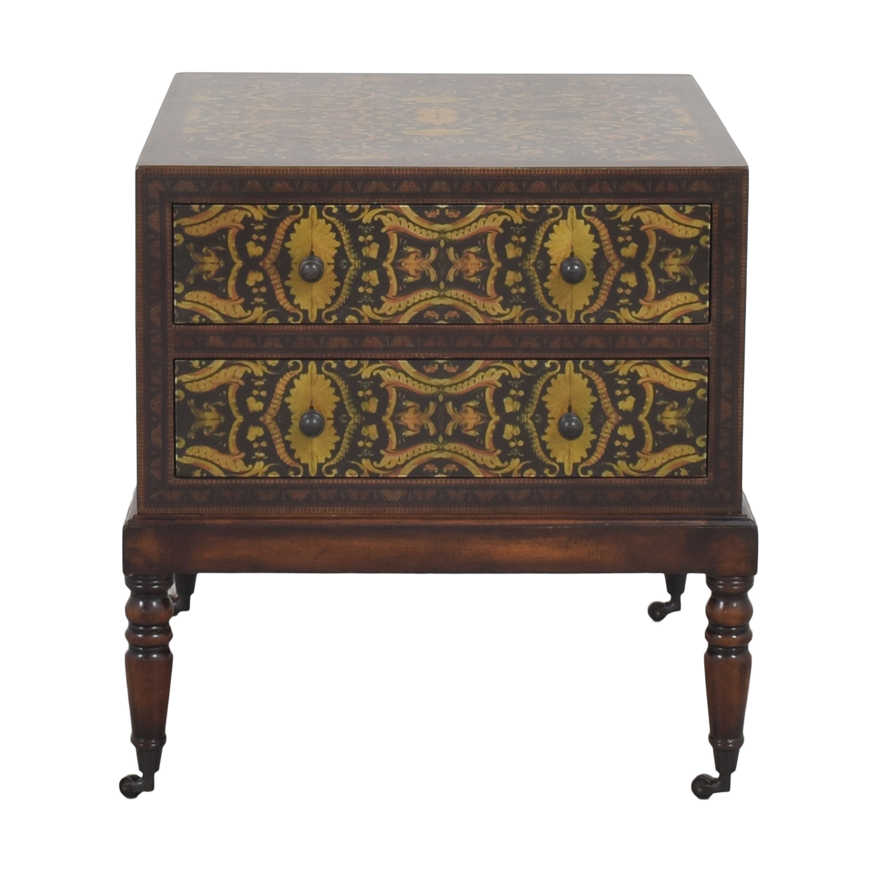 buy Theodore Alexander Theodore Alexander Decoupage Bedside Chest online