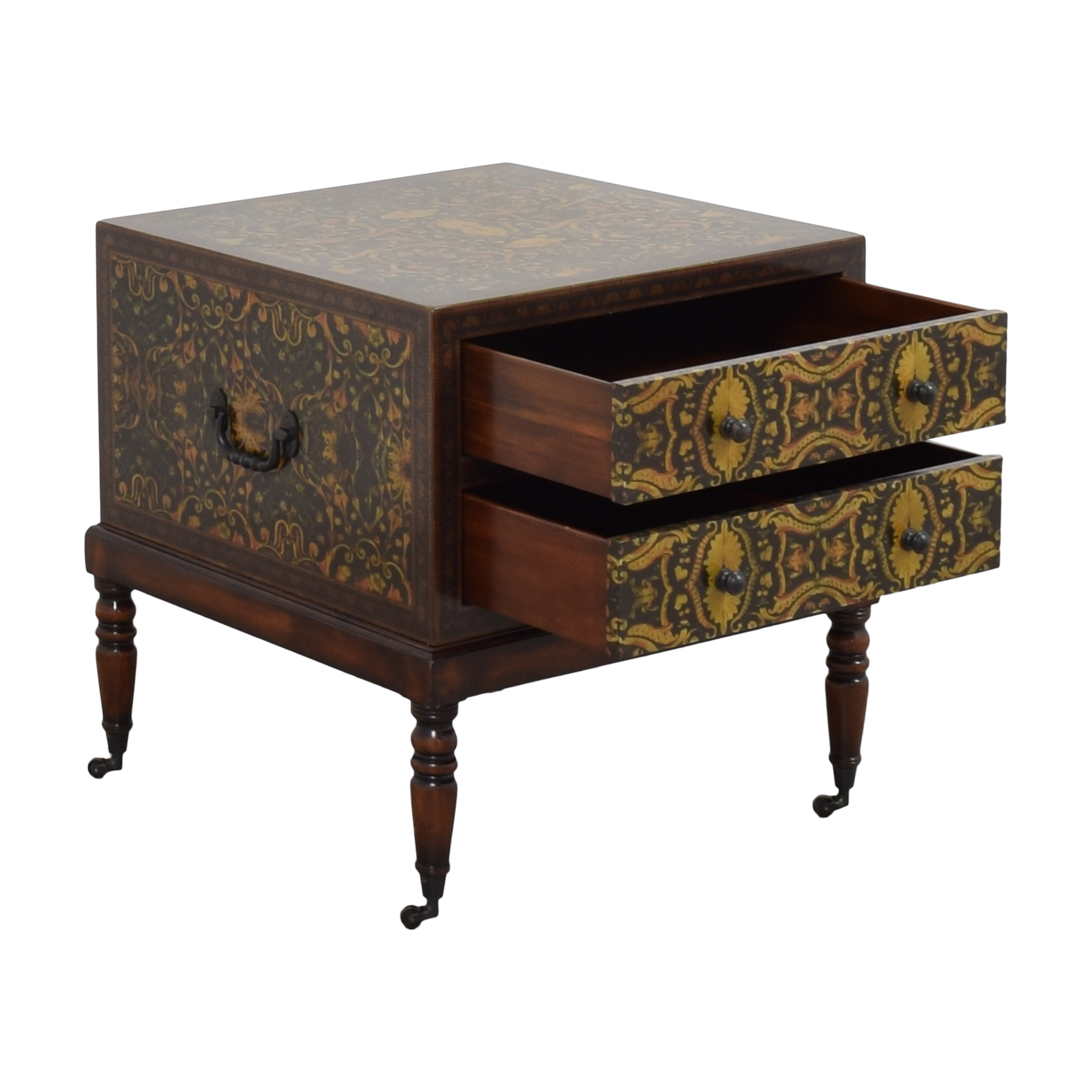 Theodore Alexander Decoupage Bedside Chest sale