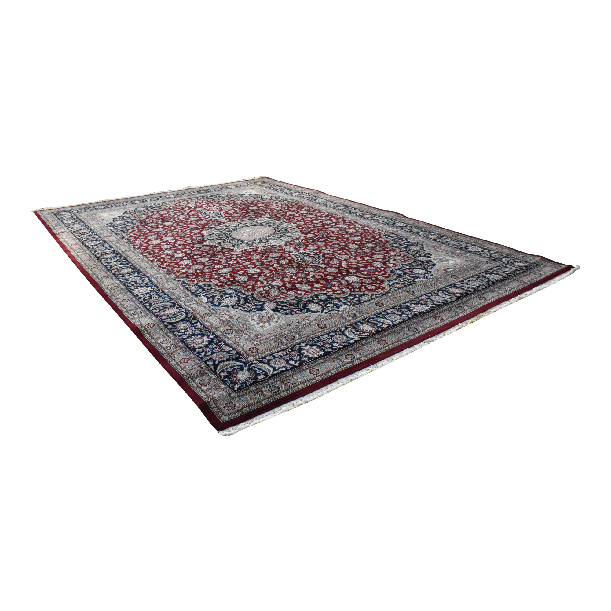 Kashan Style Persian Area Rug / Rugs