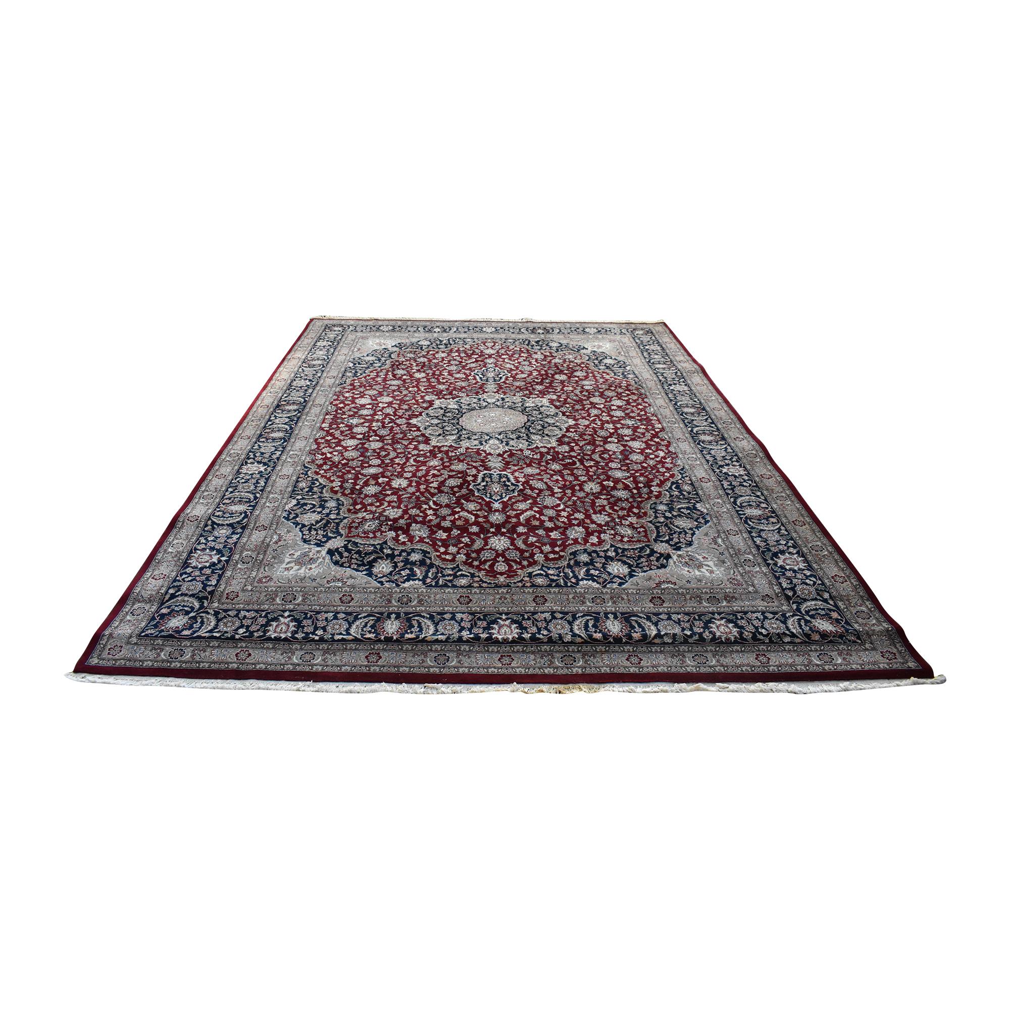 Kashan Style Persian Area Rug