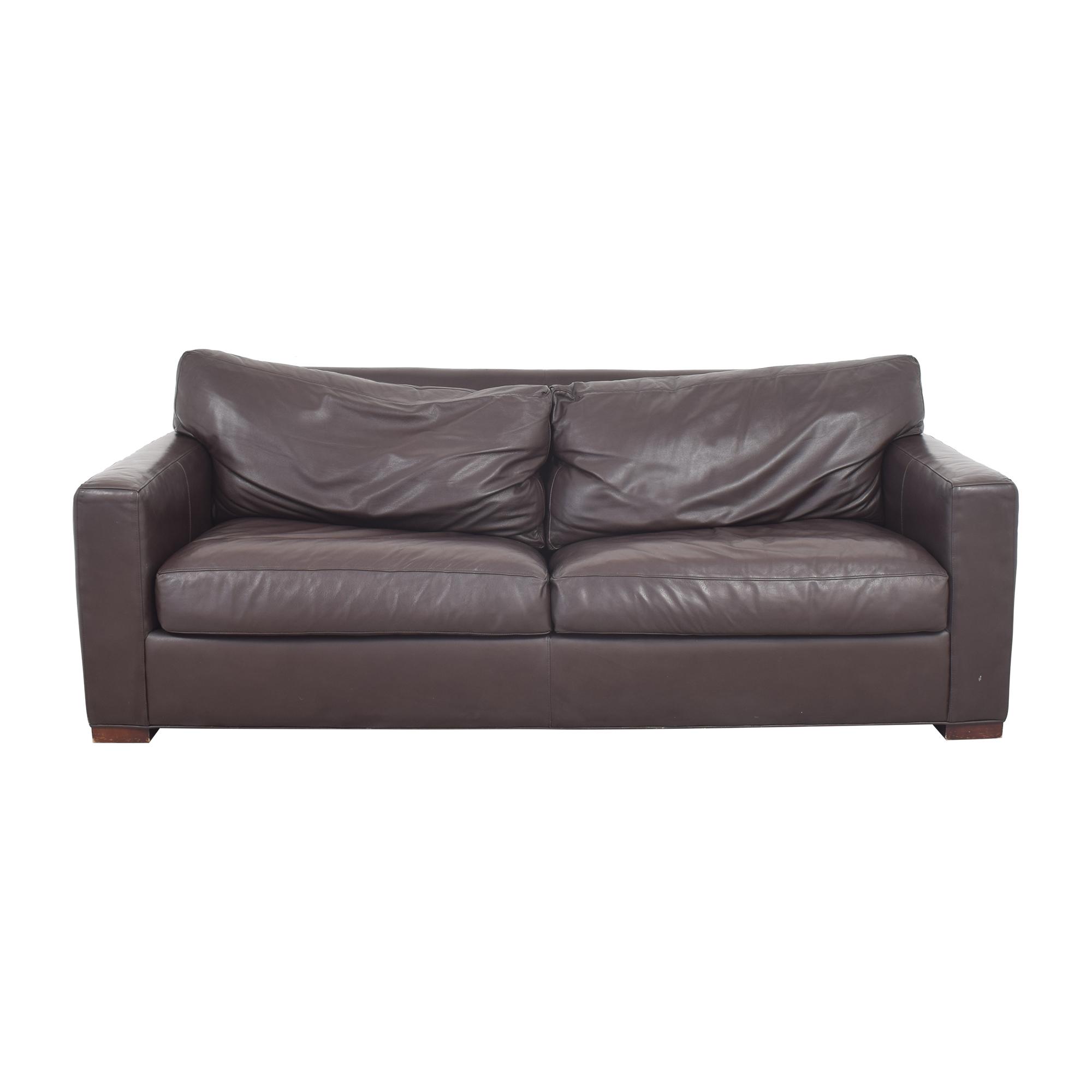 Crate & Barrel Crate & Barrel Axis II Two Seat Queen Sleeper Sofa dark brown