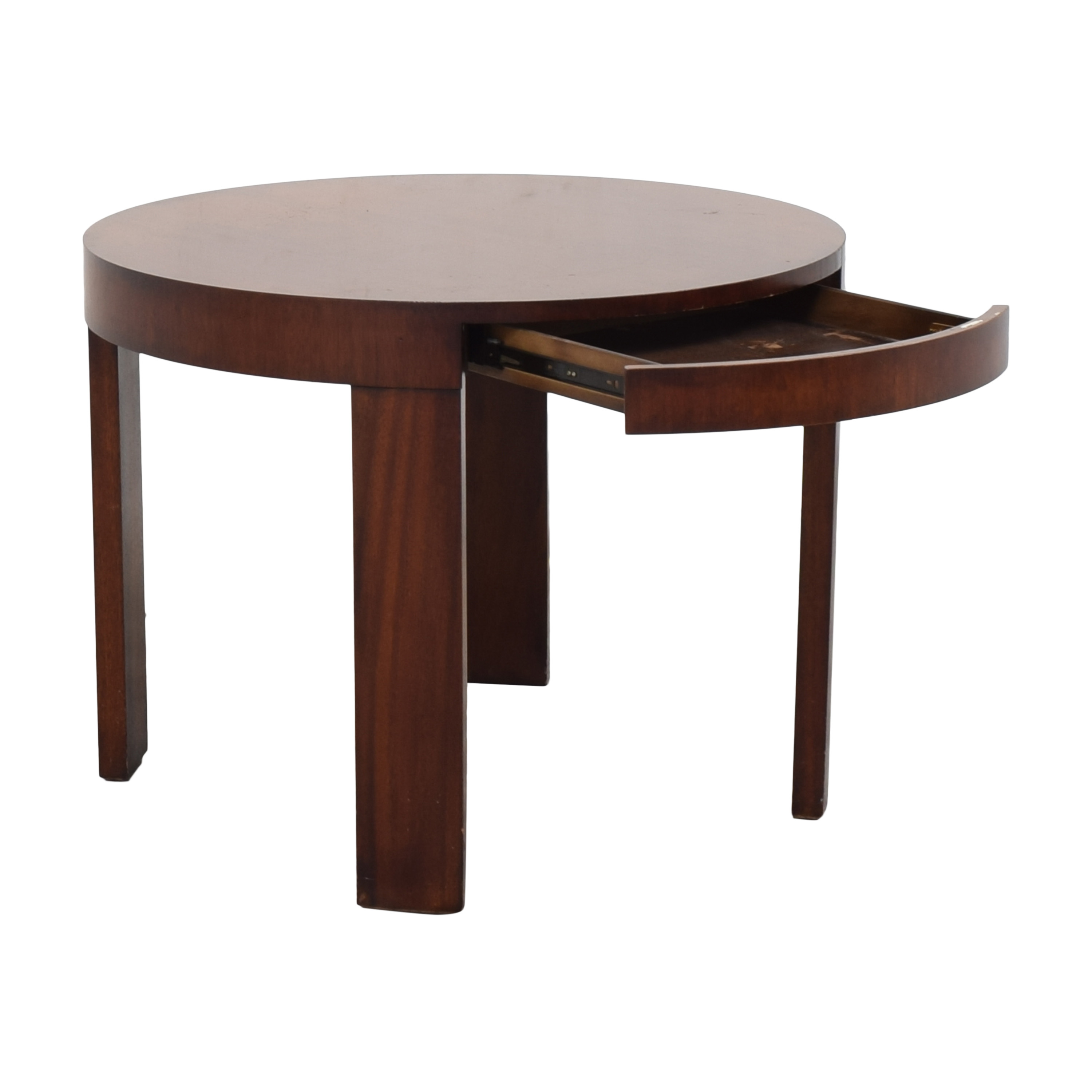 Ralph Lauren Home Ralph Lauren Home Round Single Drawer End Table  used