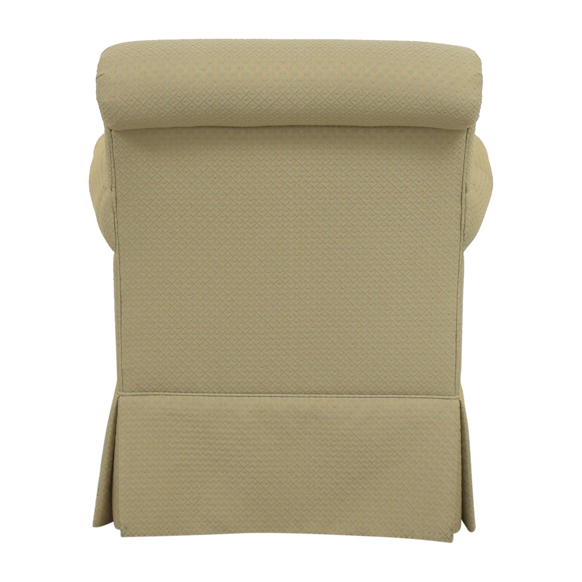 shop Ethan Allen Skirted Accent Chair Ethan Allen Accent Chairs