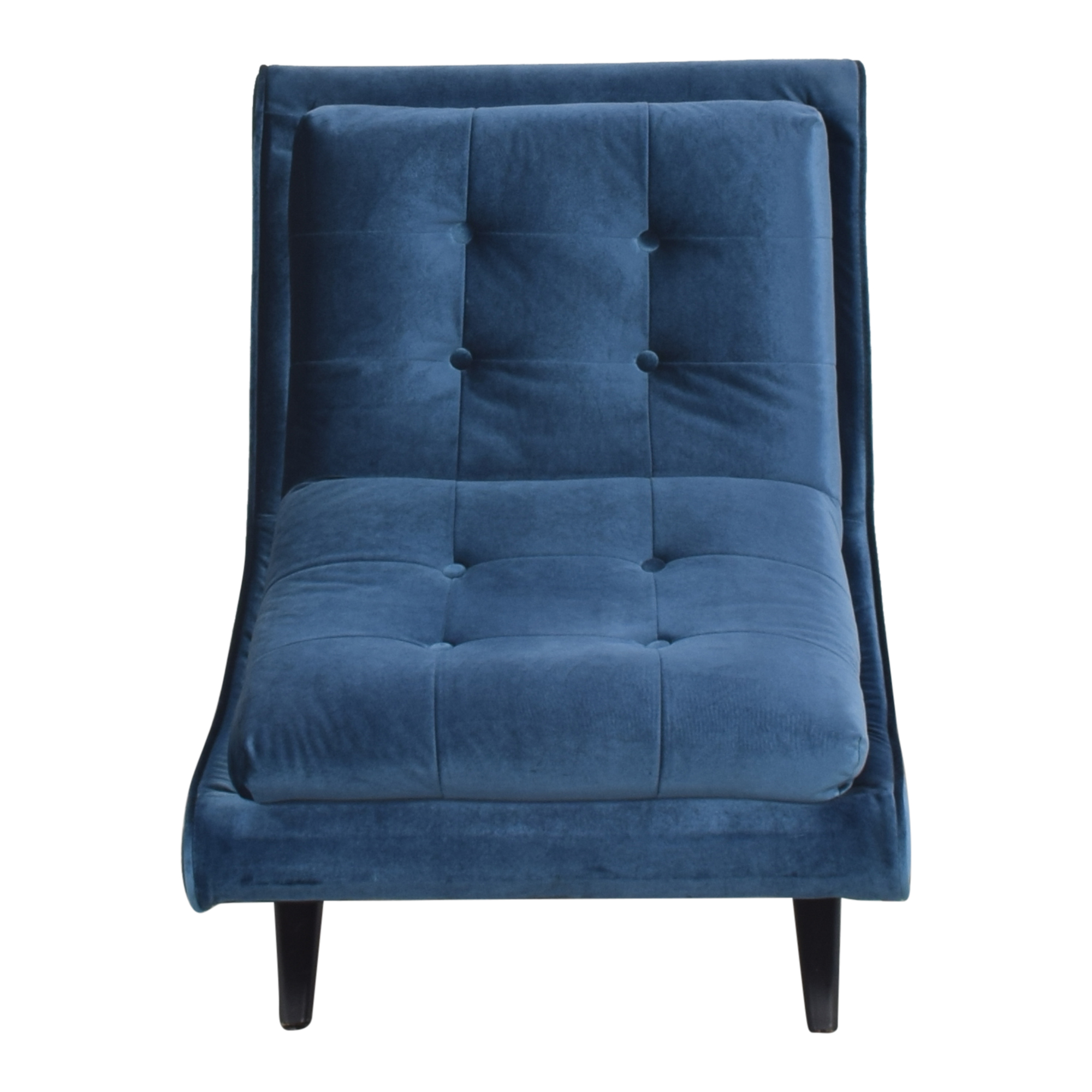 Armen Living Armen Living 5th Avenue Armless Swayback Lounge Chair blue